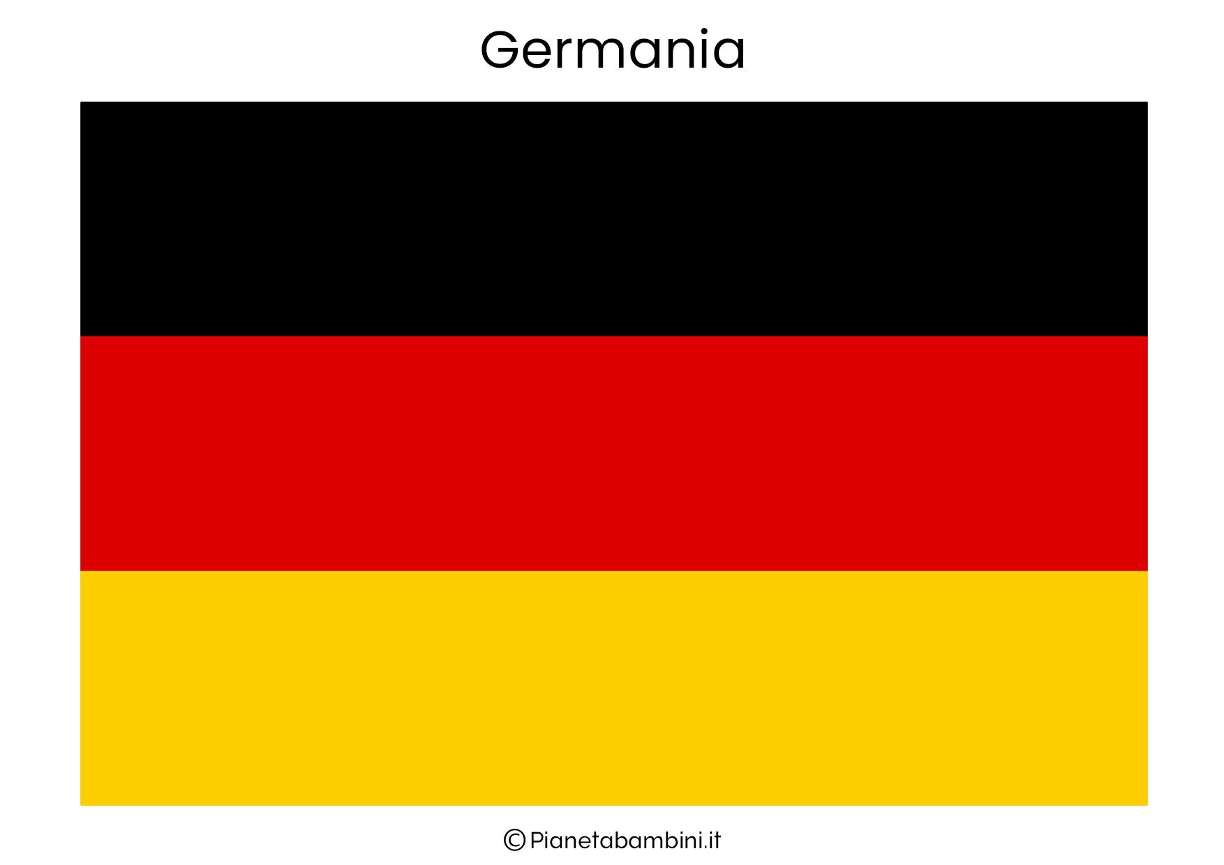 Bandiera della Germania da stampare