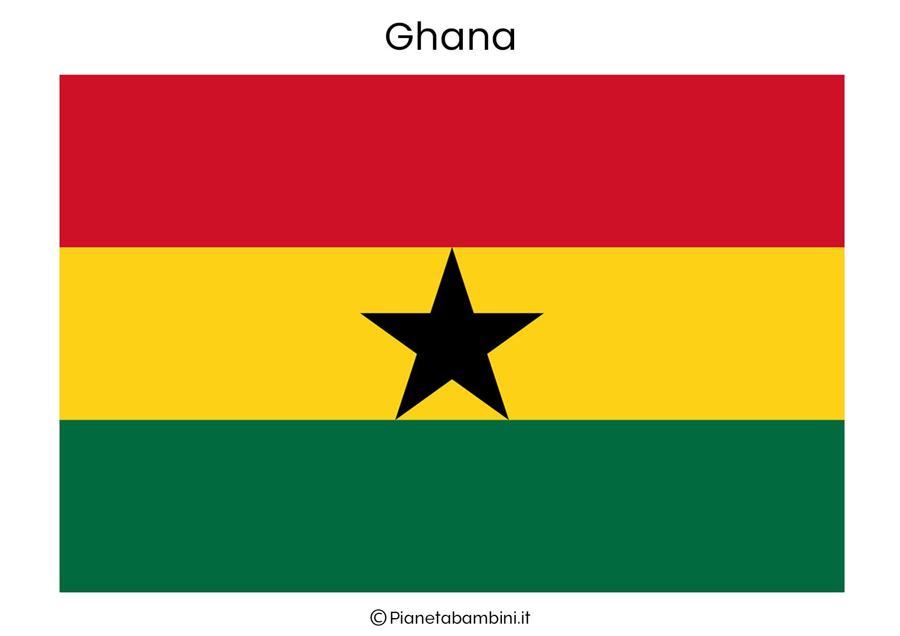 Bandiera del Ghana da stampare