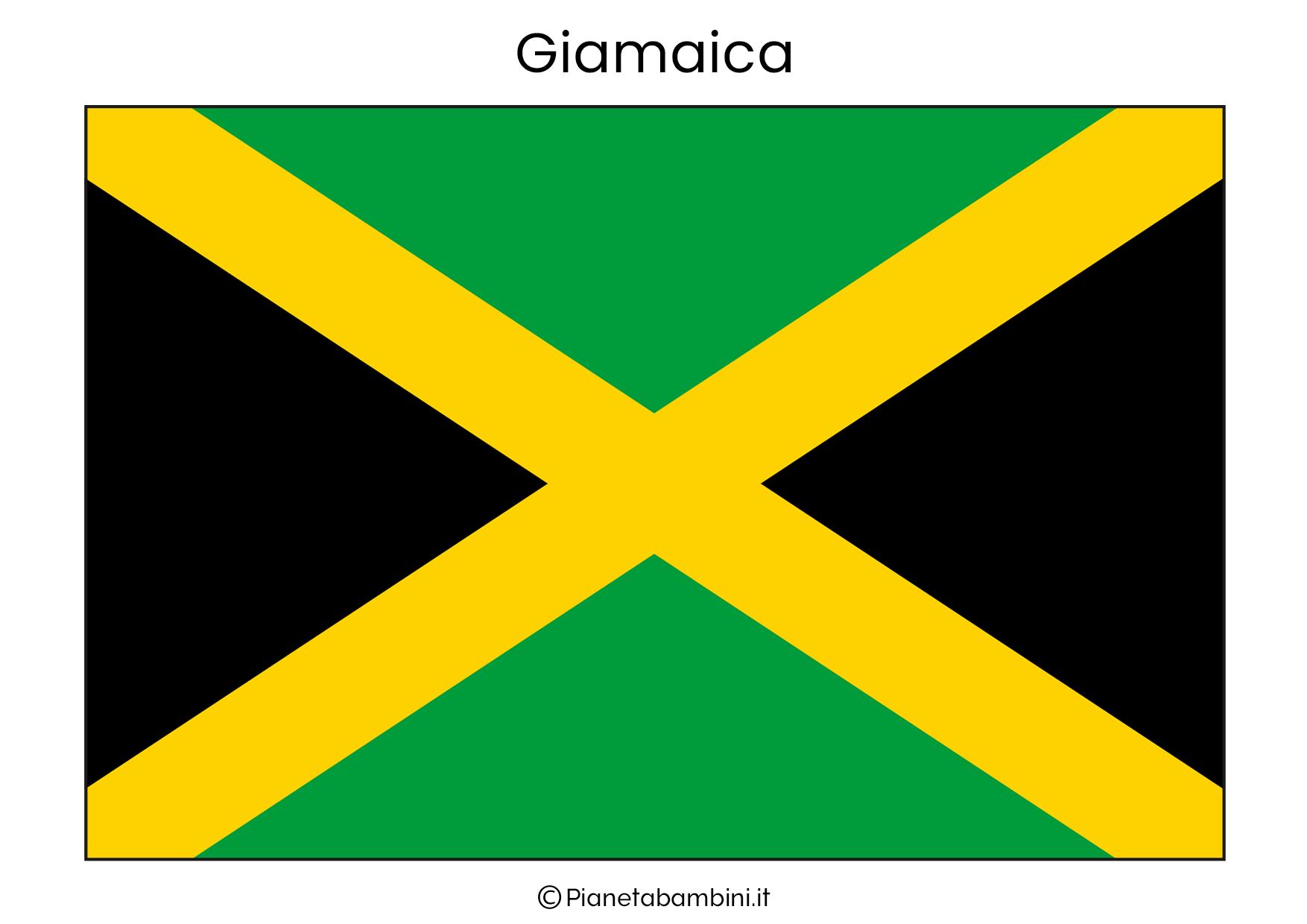 Bandiera della Giamaica da stampare
