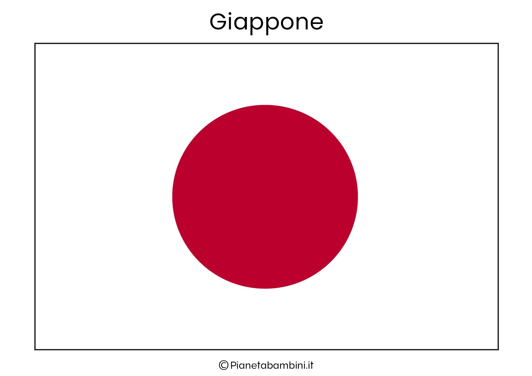 Bandiera del Giappone da stampare