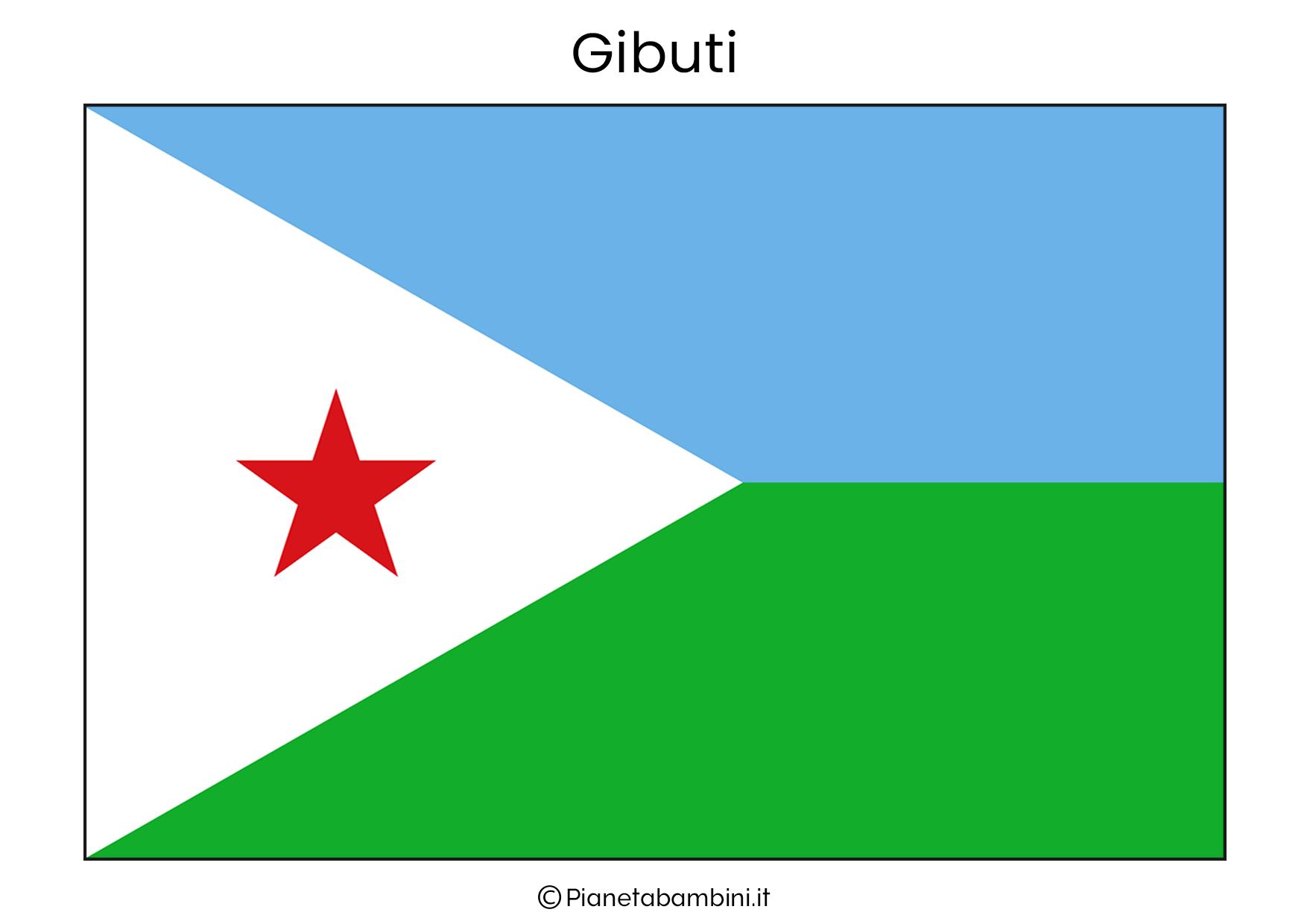 Bandiera del Gibuti da stampare