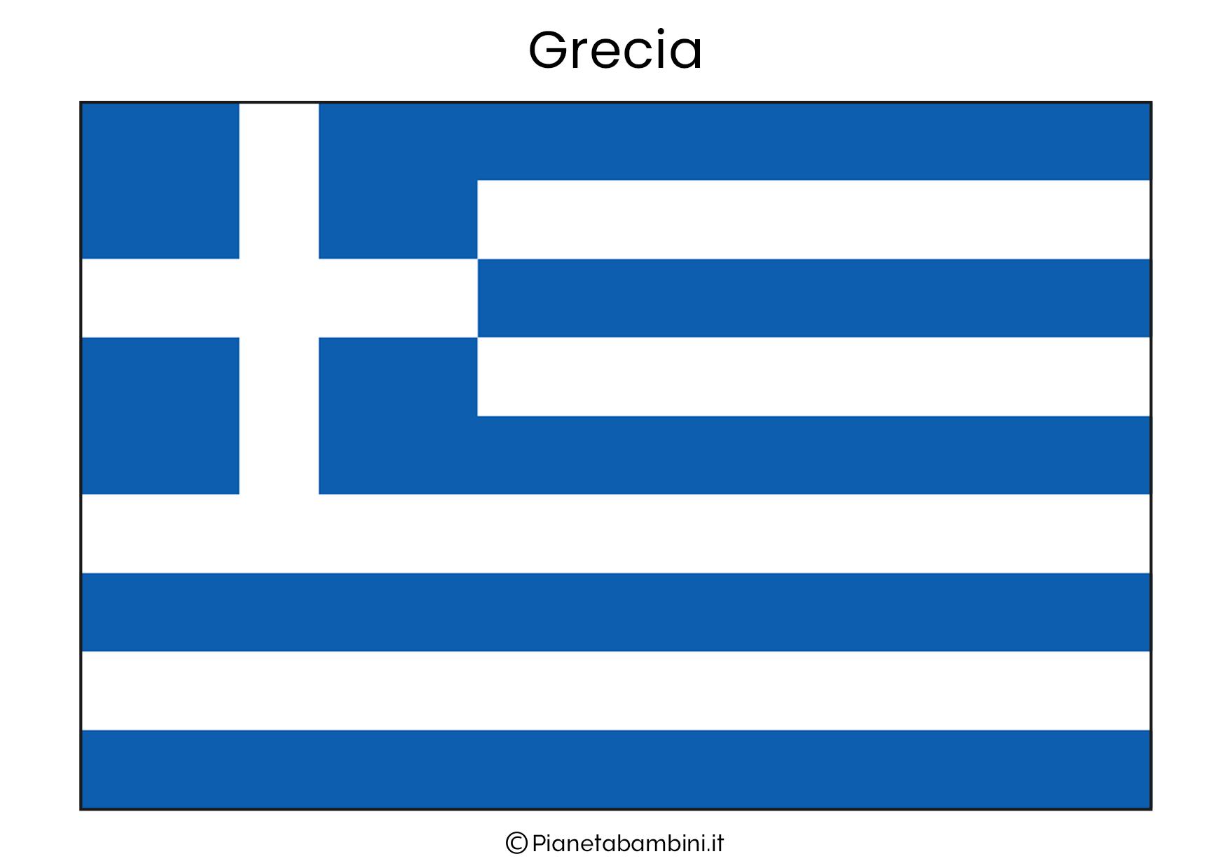 Bandiera della Grecia da stampare