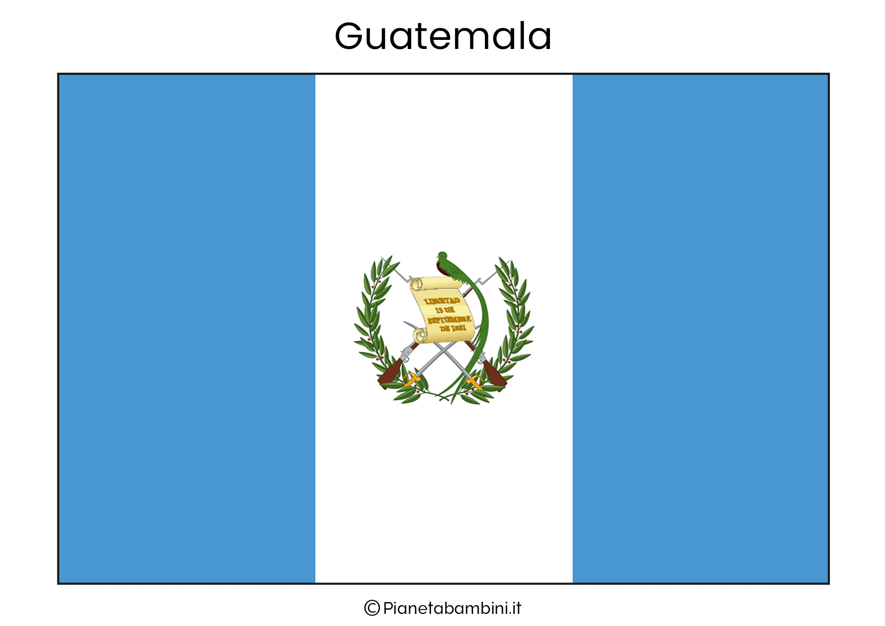 Bandiera del Guatemala da stampare