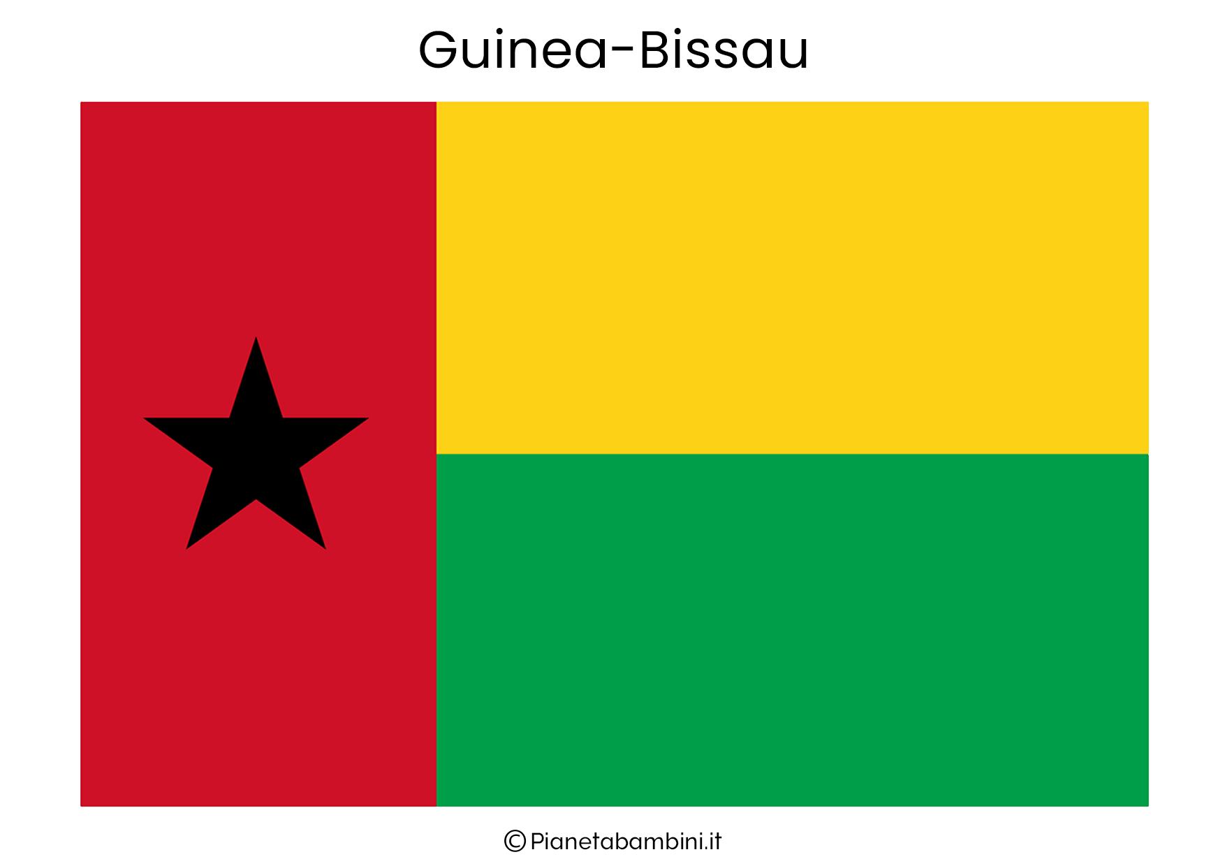 Bandiera del Guinea Bissau da stampare