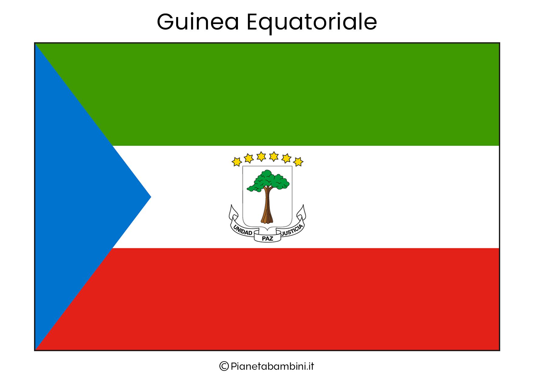 Bandiera della Guinea Equatoriale da stampare