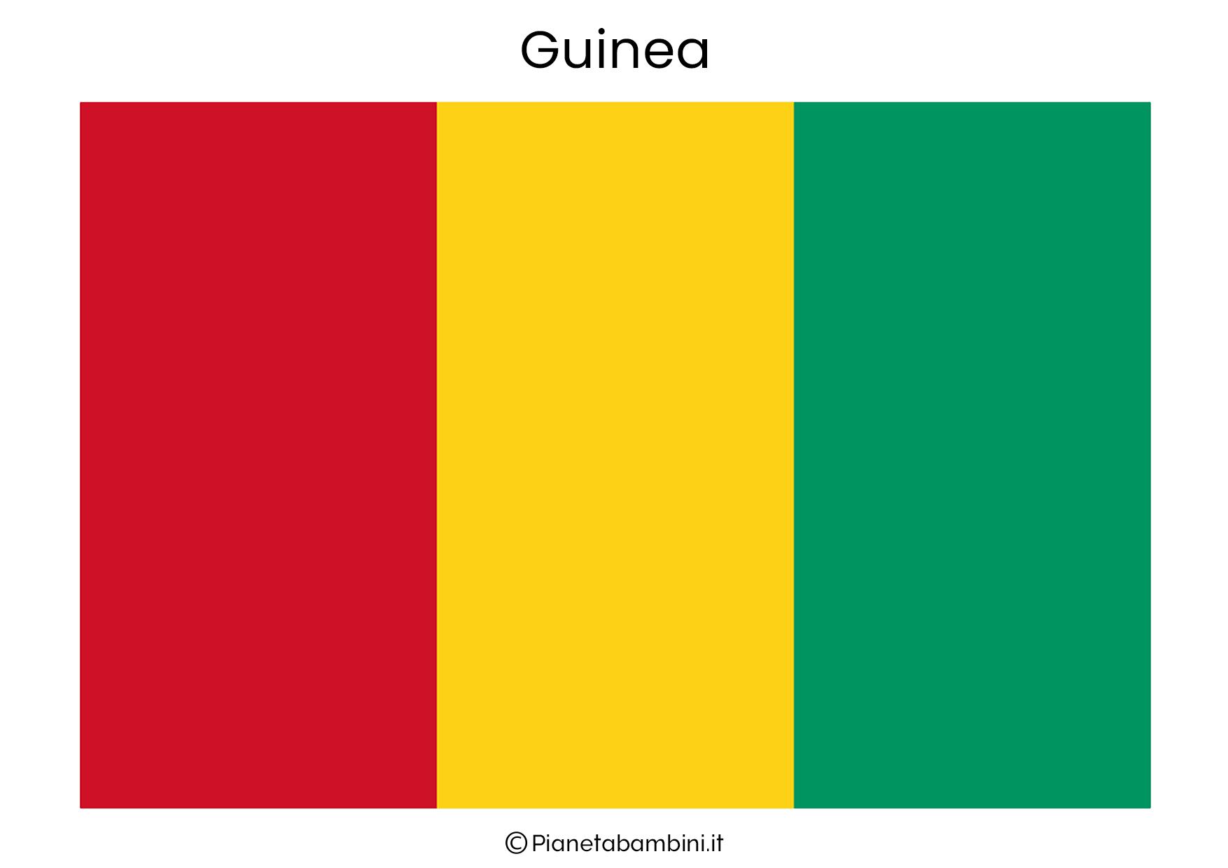 Bandiera della Guinea da stampare