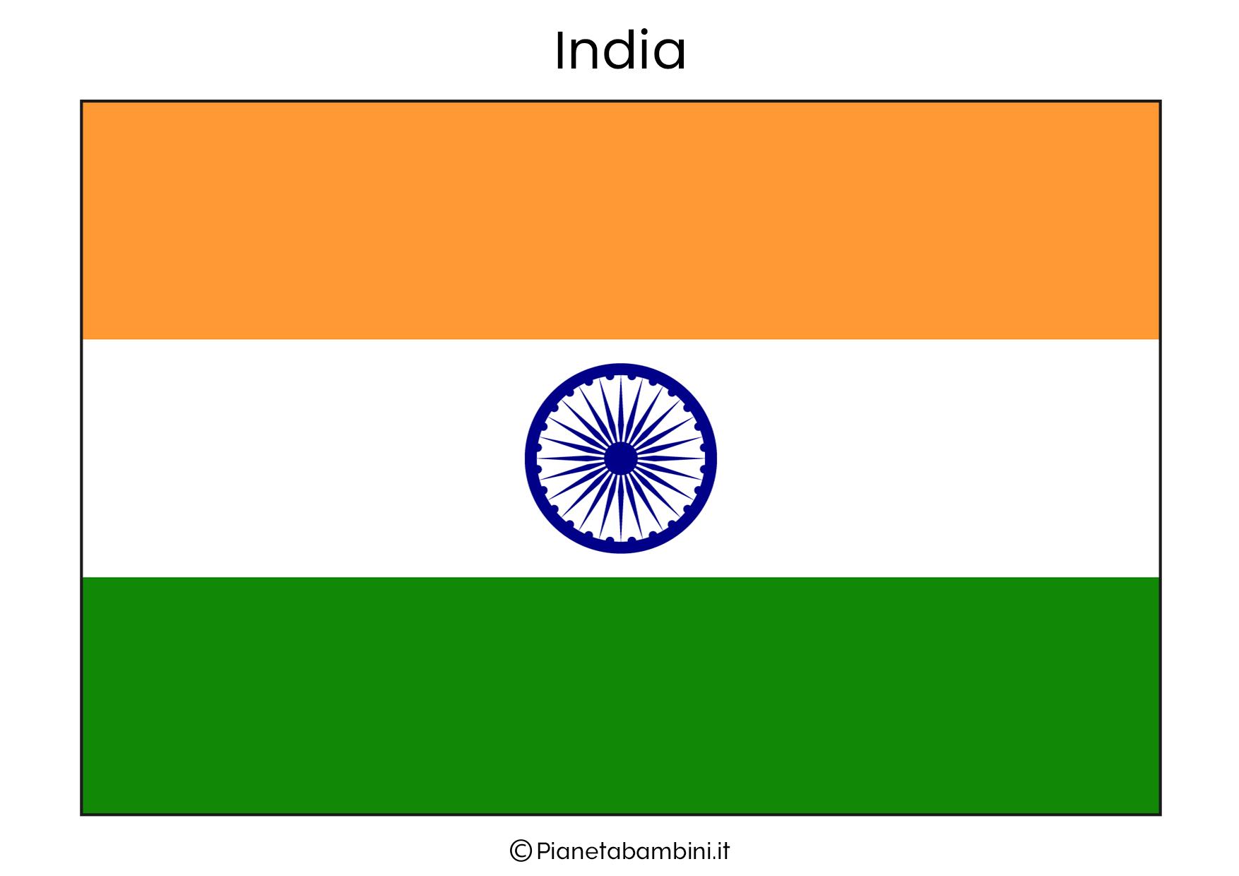 Bandiera dell'India da stampare