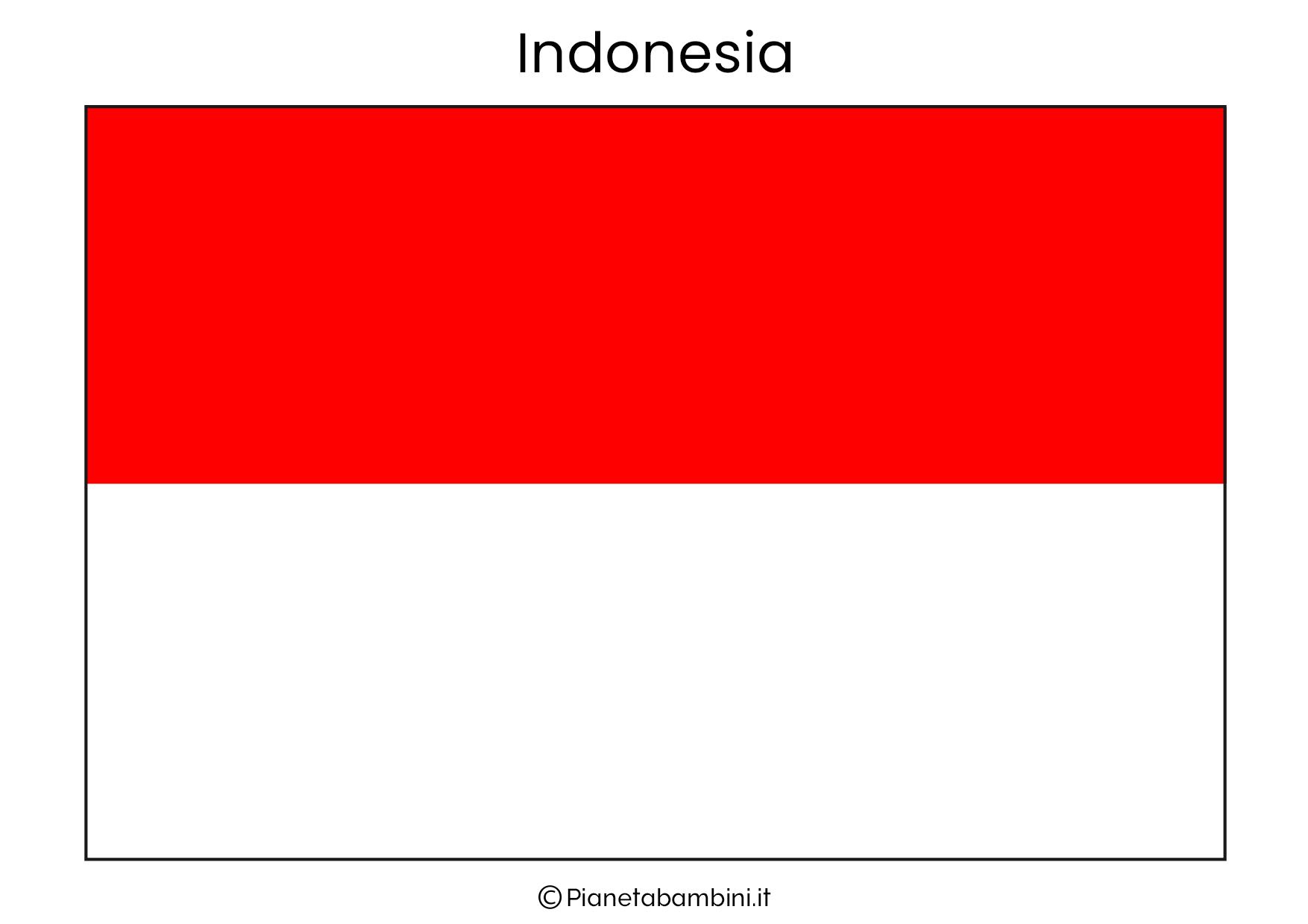 Bandiera dell'Indonesia da stampare