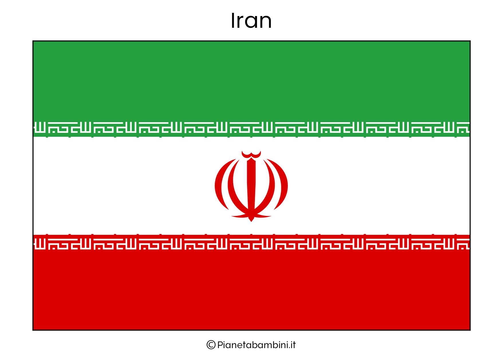 Bandiera dell'Iran da stampare