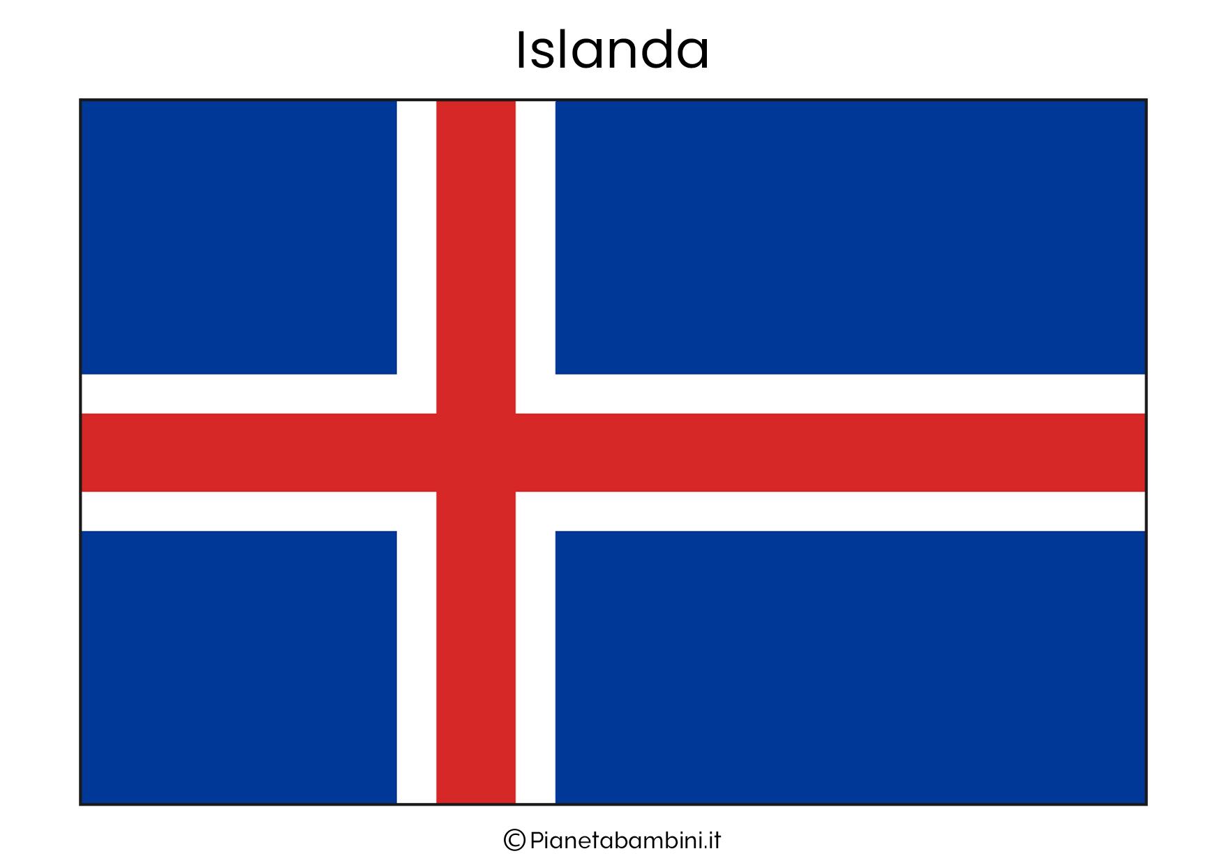 Bandiera dell'Islanda da stampare