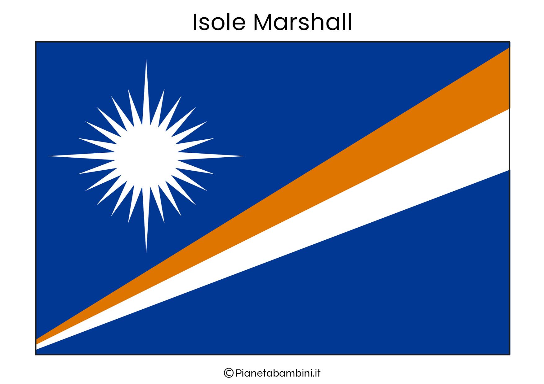Bandiera delle Isole Marshall da stampare