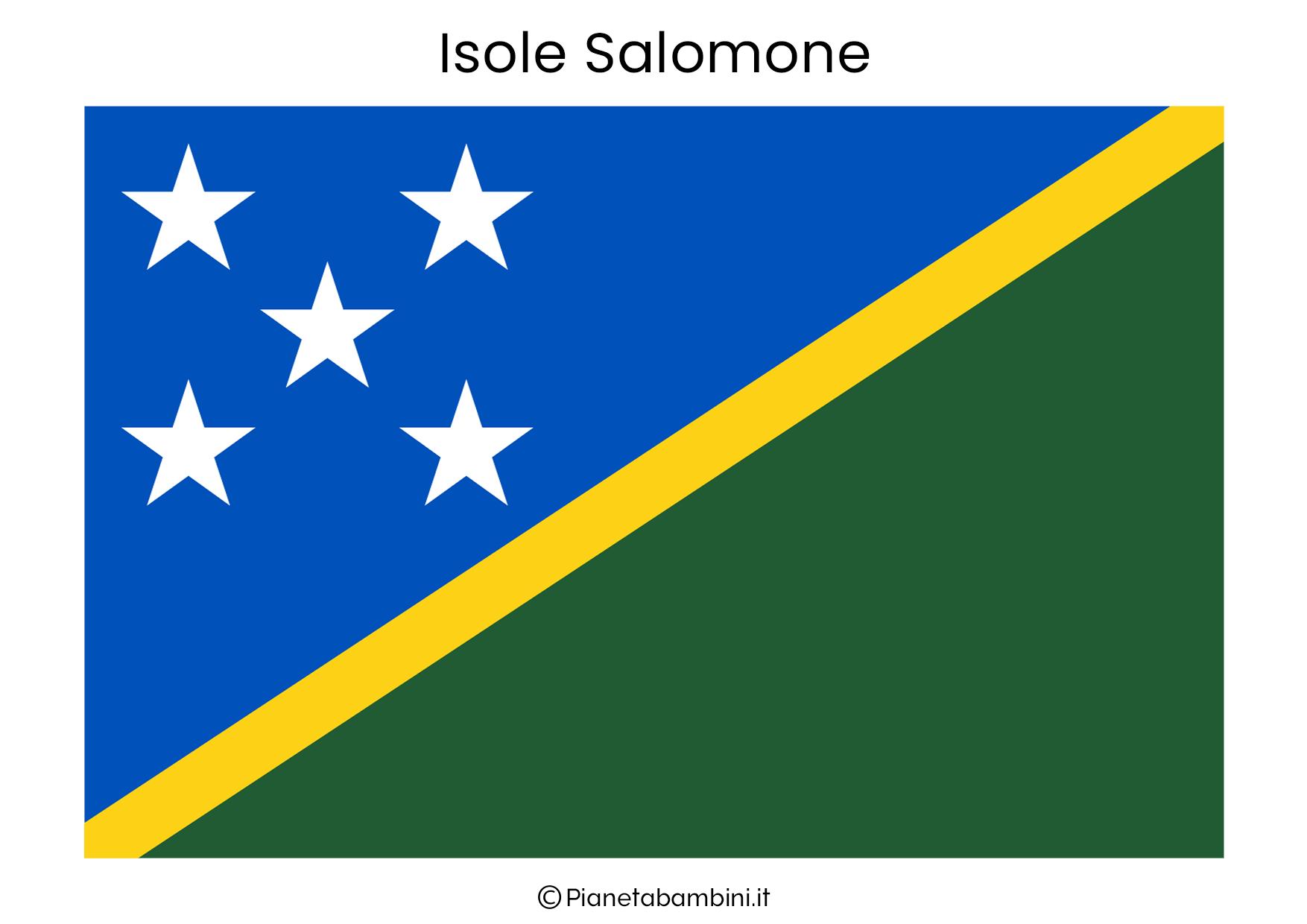 Bandiera delle Isole Salomone da stampare