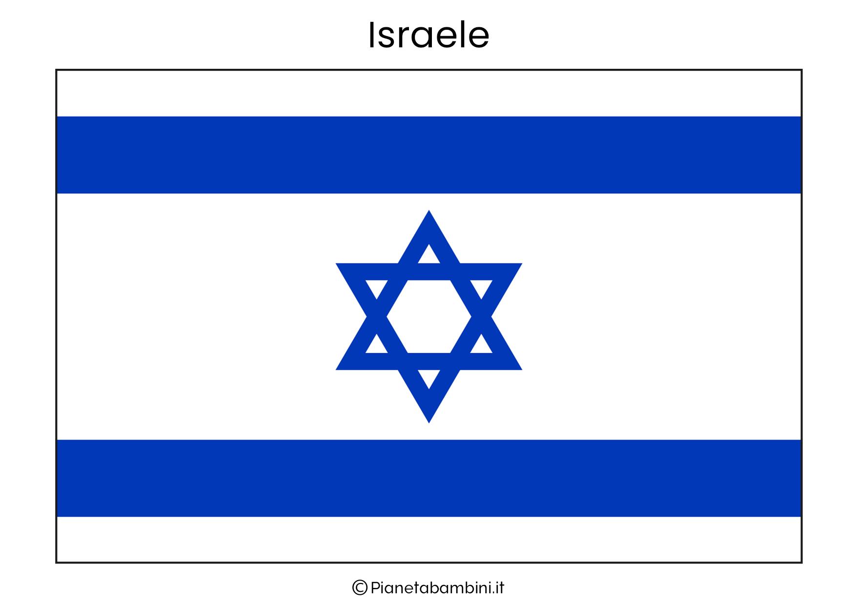 Bandiera dei Israele da stampare