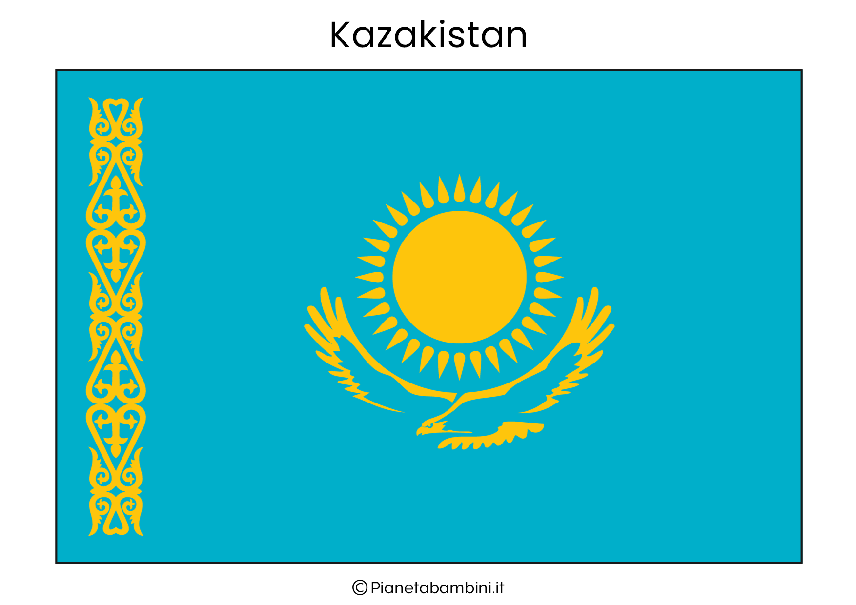 Bandiera del Kazakistan da stampare