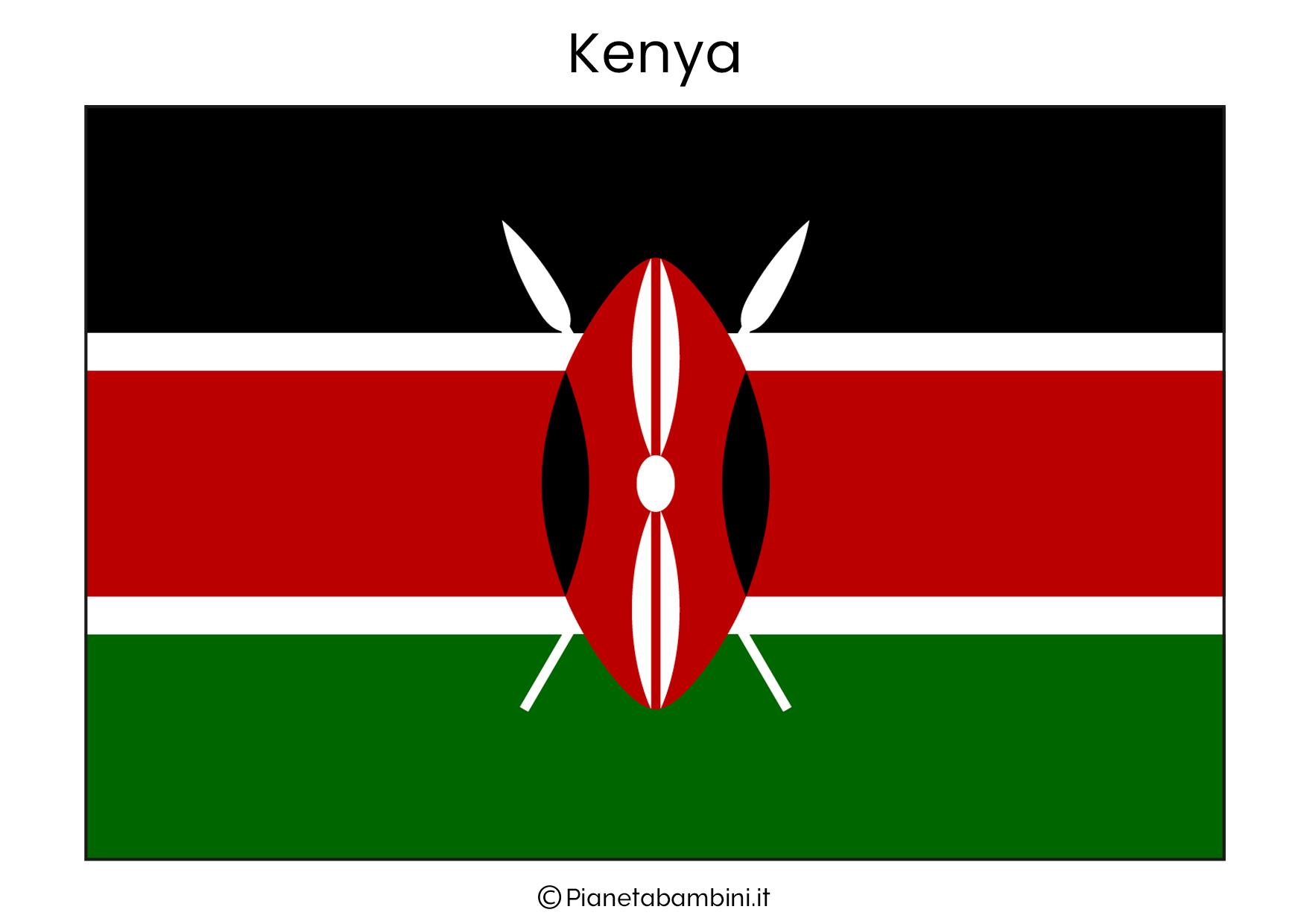 Bandiera del Kenya da stampare
