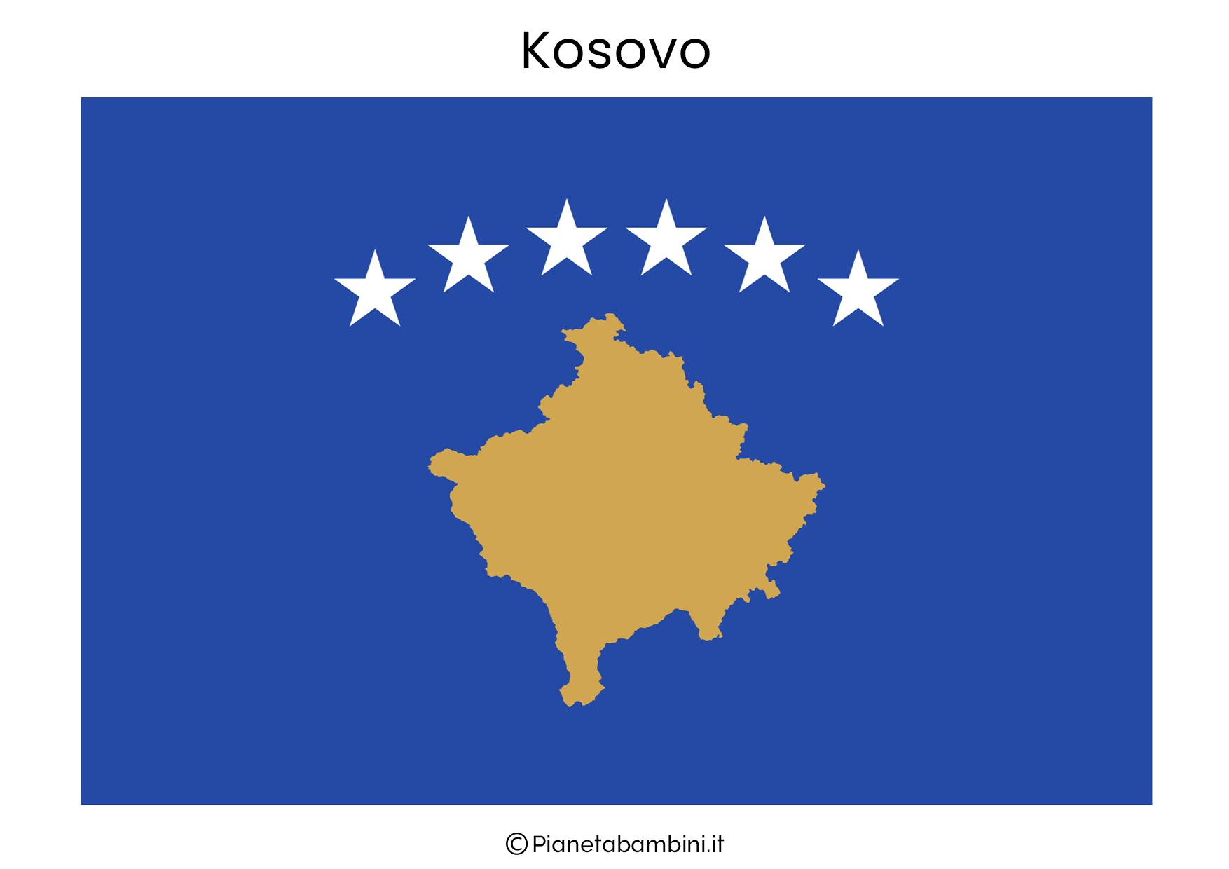 Bandiera del Kosovo da stampare