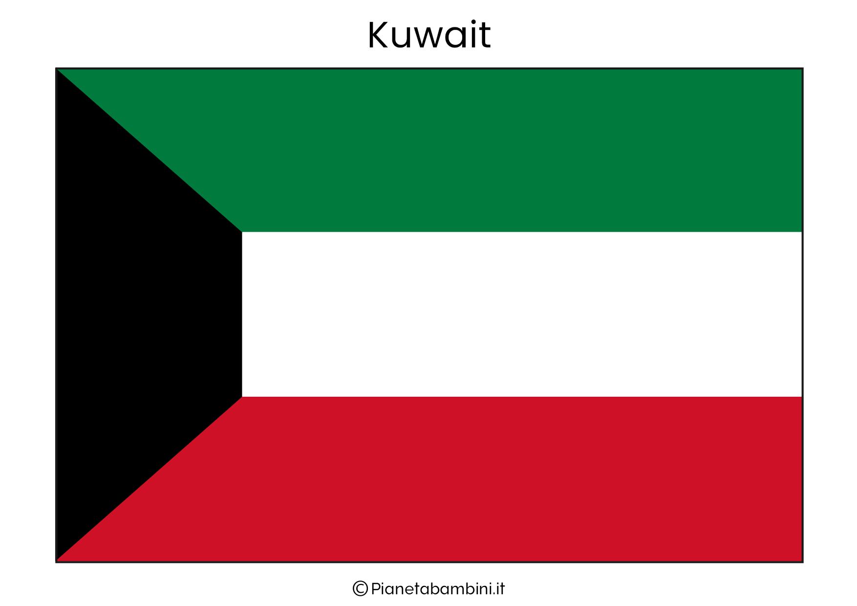 Bandiera del Kuwait da stampare