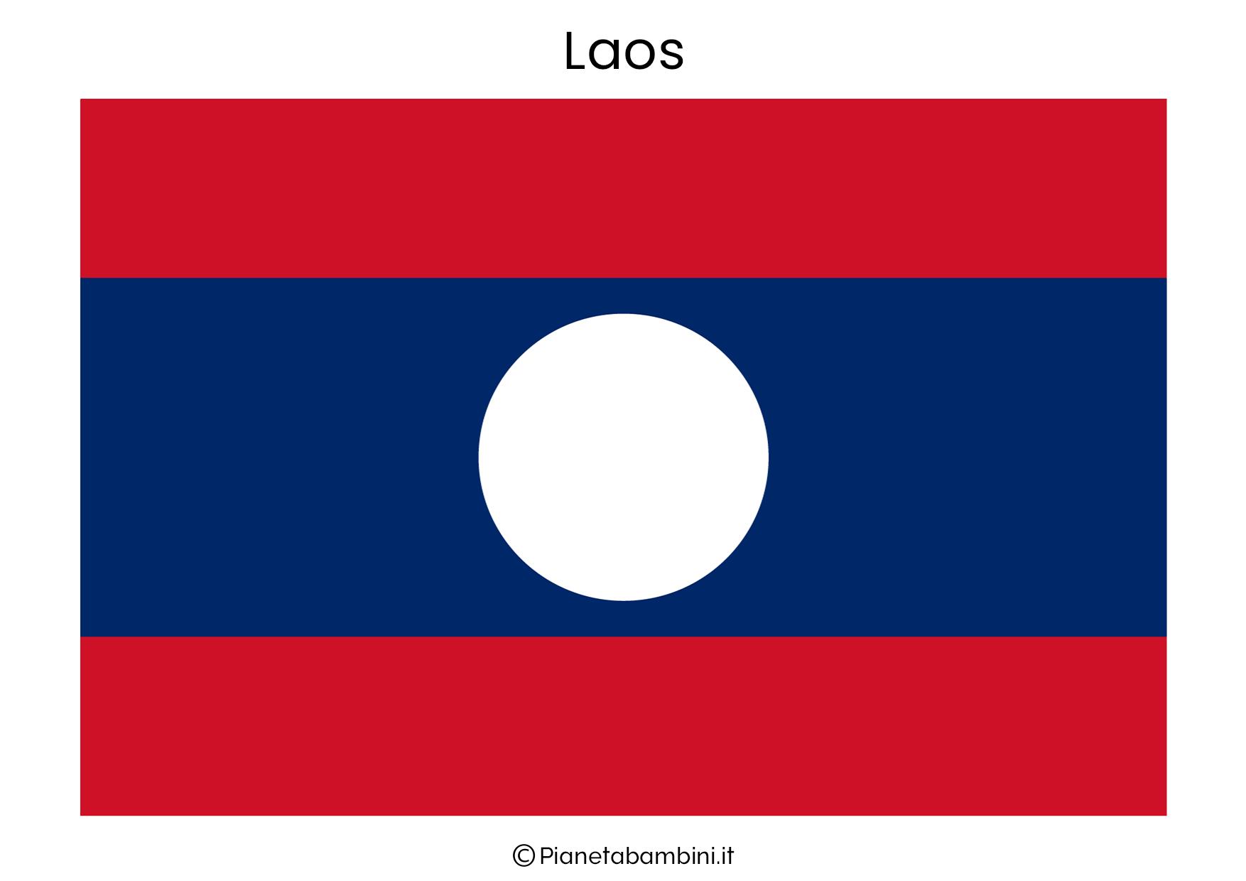 Bandiera del Laos da stampare