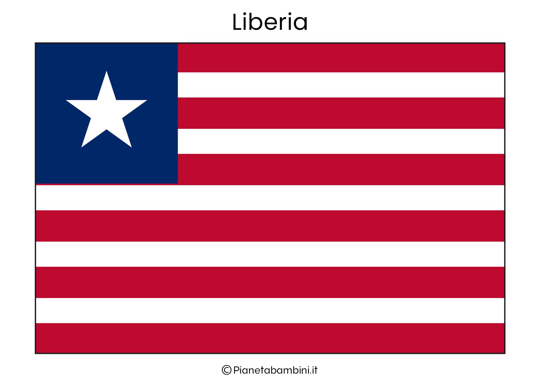Bandiera della Liberia da stampare