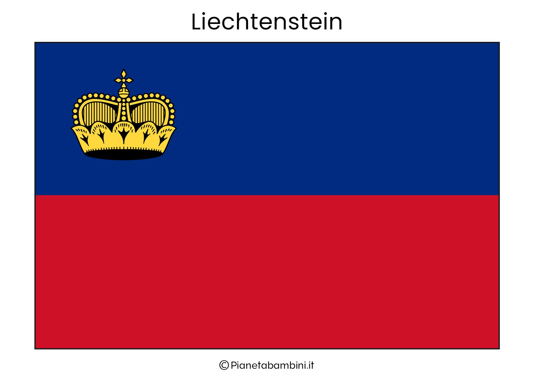 Bandiera del Liechtenstein da stampare