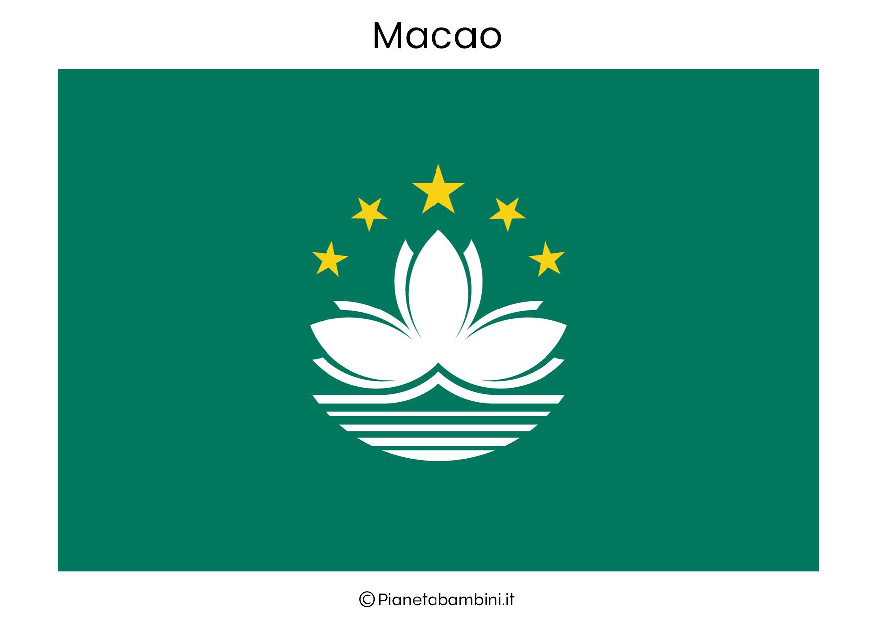 Bandiera di Macao da stampare