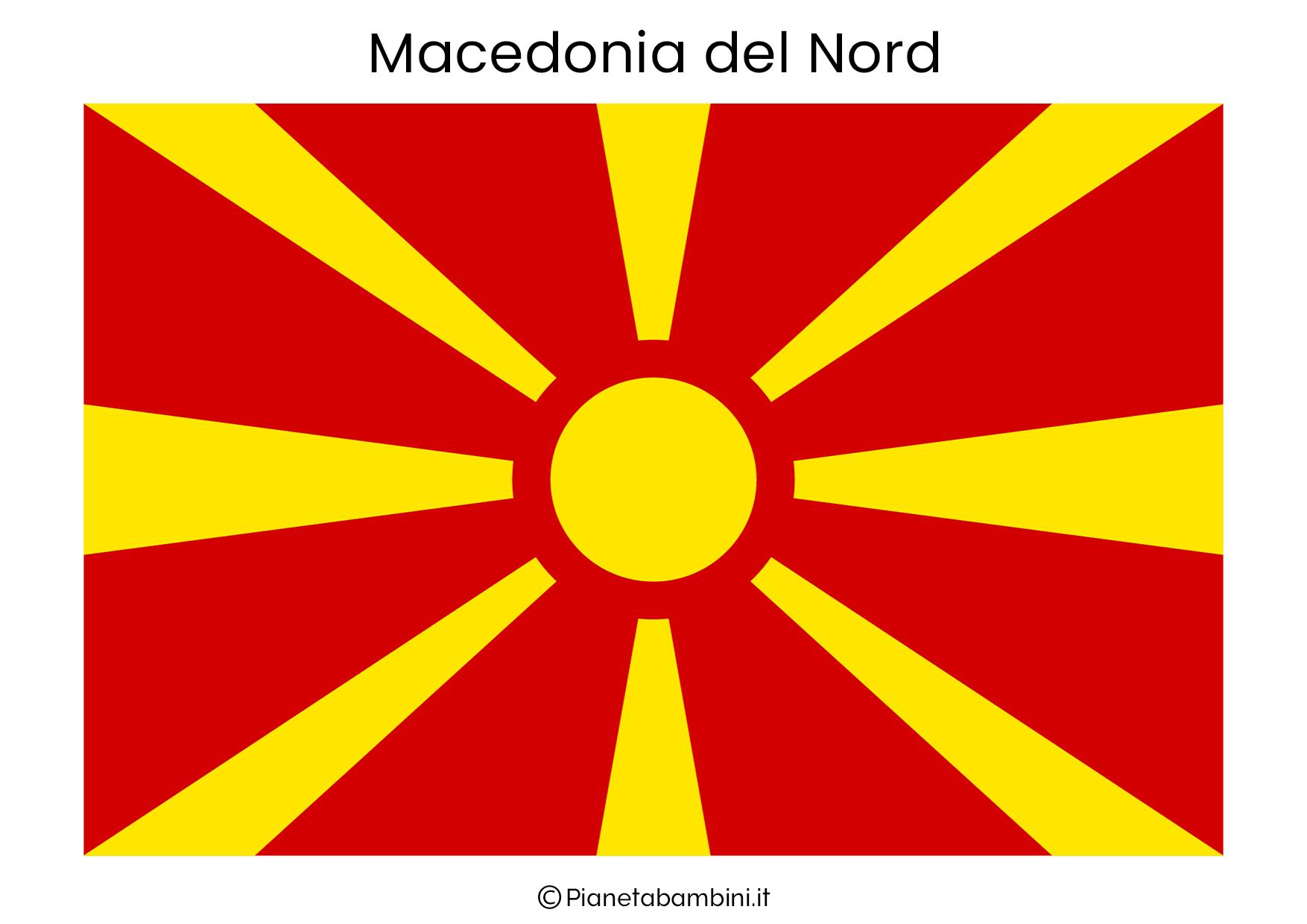 Bandiera della Macedonia del Nord da stampare