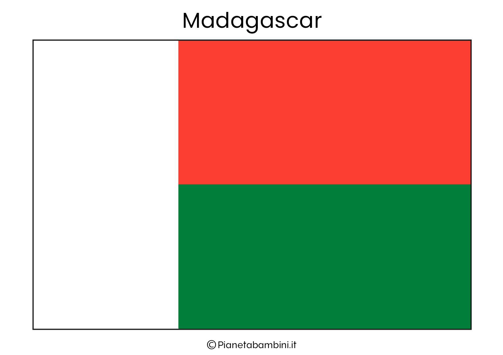 Bandiera del Madagascar da stampare