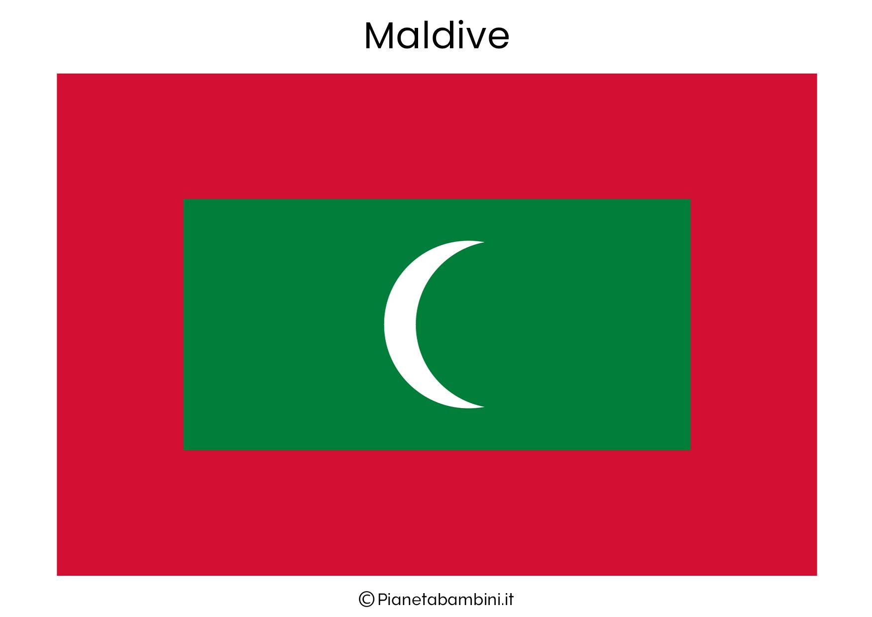 Bandiera delle Maldive da stampare