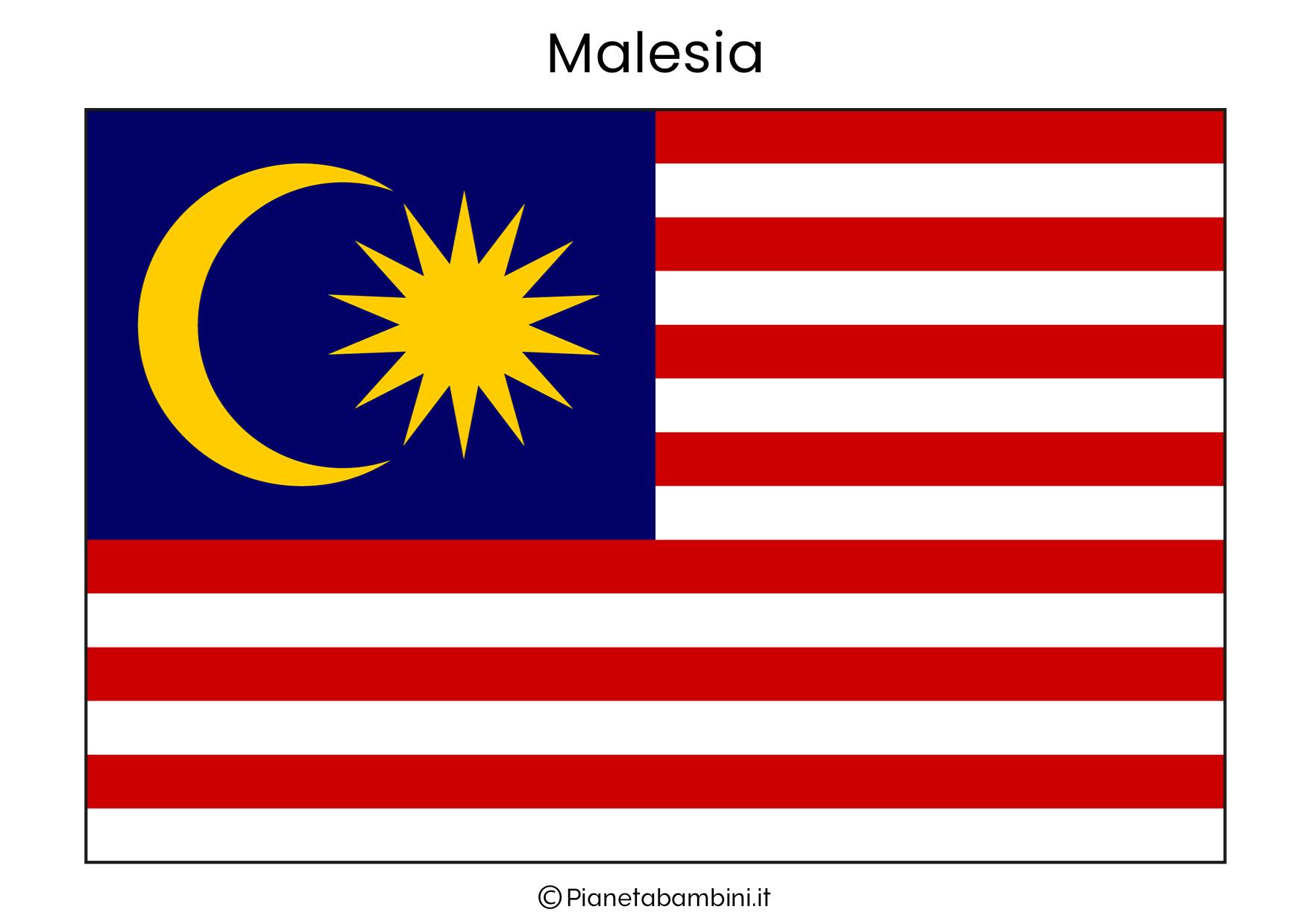 Bandiera della Malesia da stampare