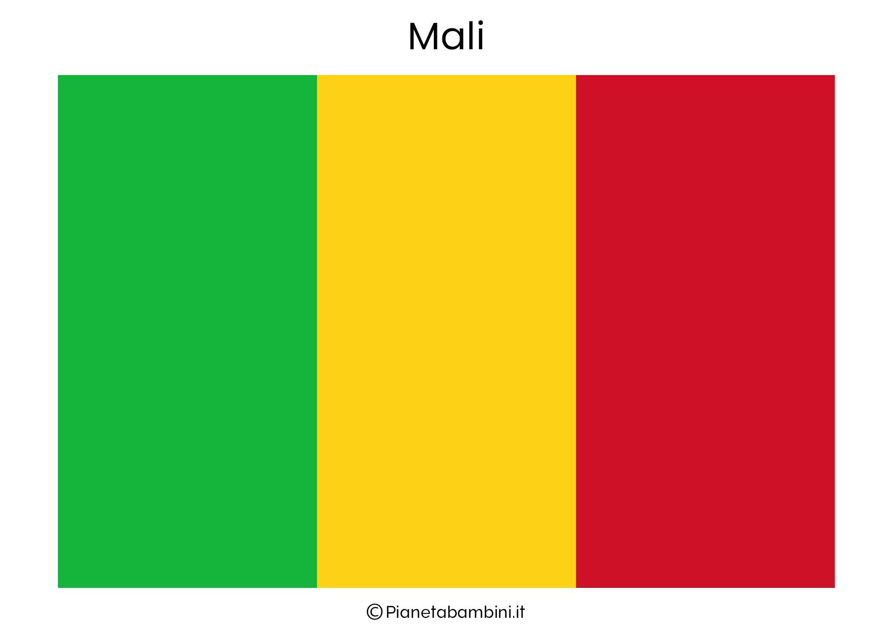 Bandiera del Mali da stampare