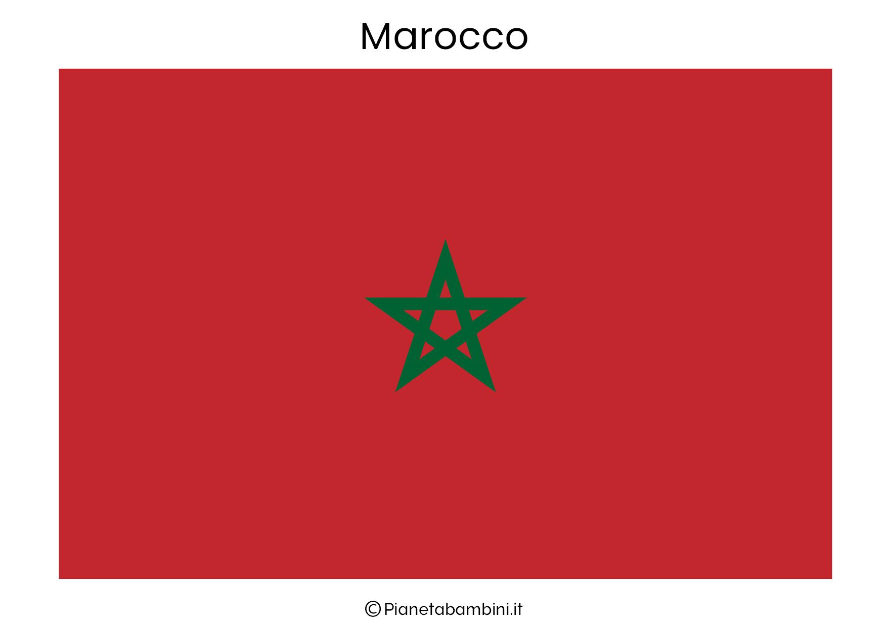 Bandiera del Marocco da stampare