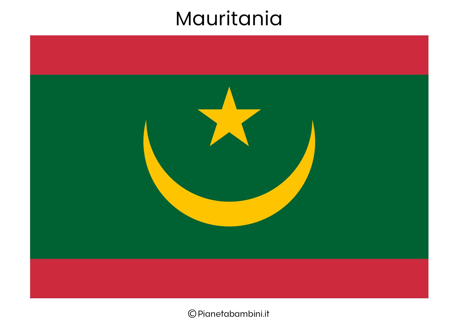 Bandiera del Mauritania da stampare