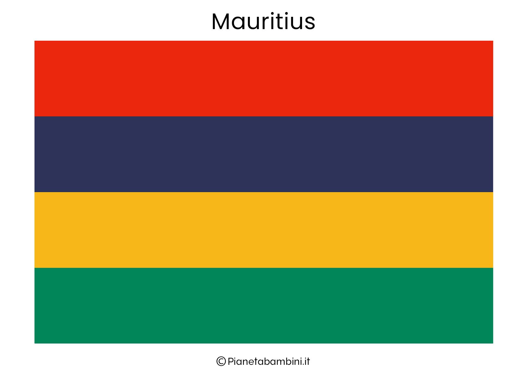 Bandiera del Mauritius da stampare