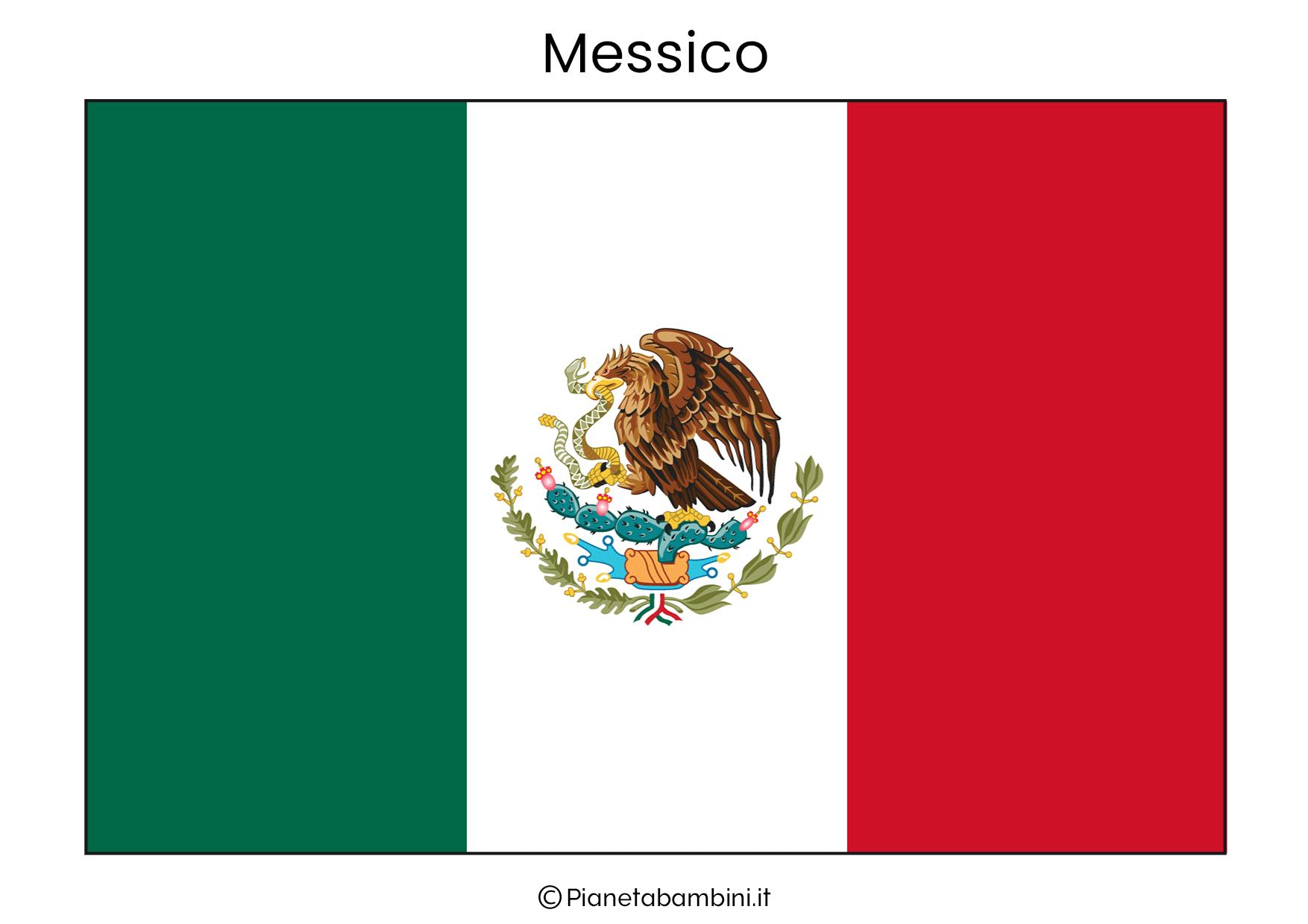 Bandiera del Messico da stampare