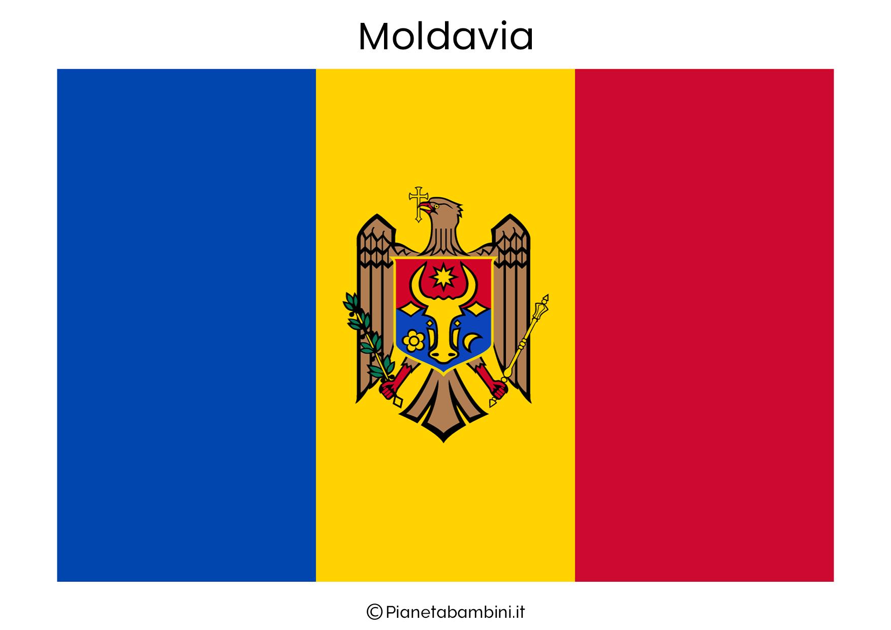 Bandiera della Moldavia da stampare