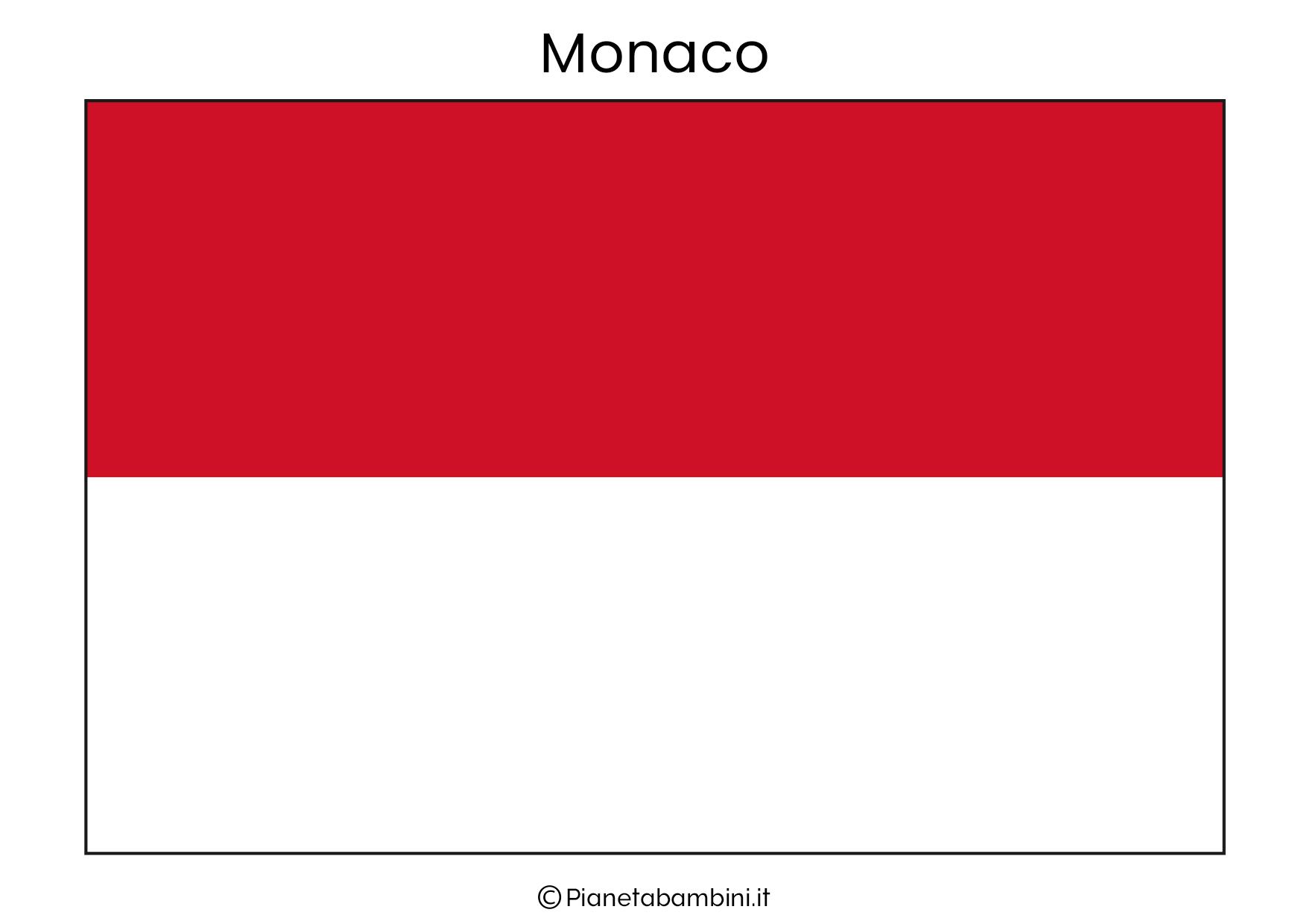 Bandiera di Monaco da stampare