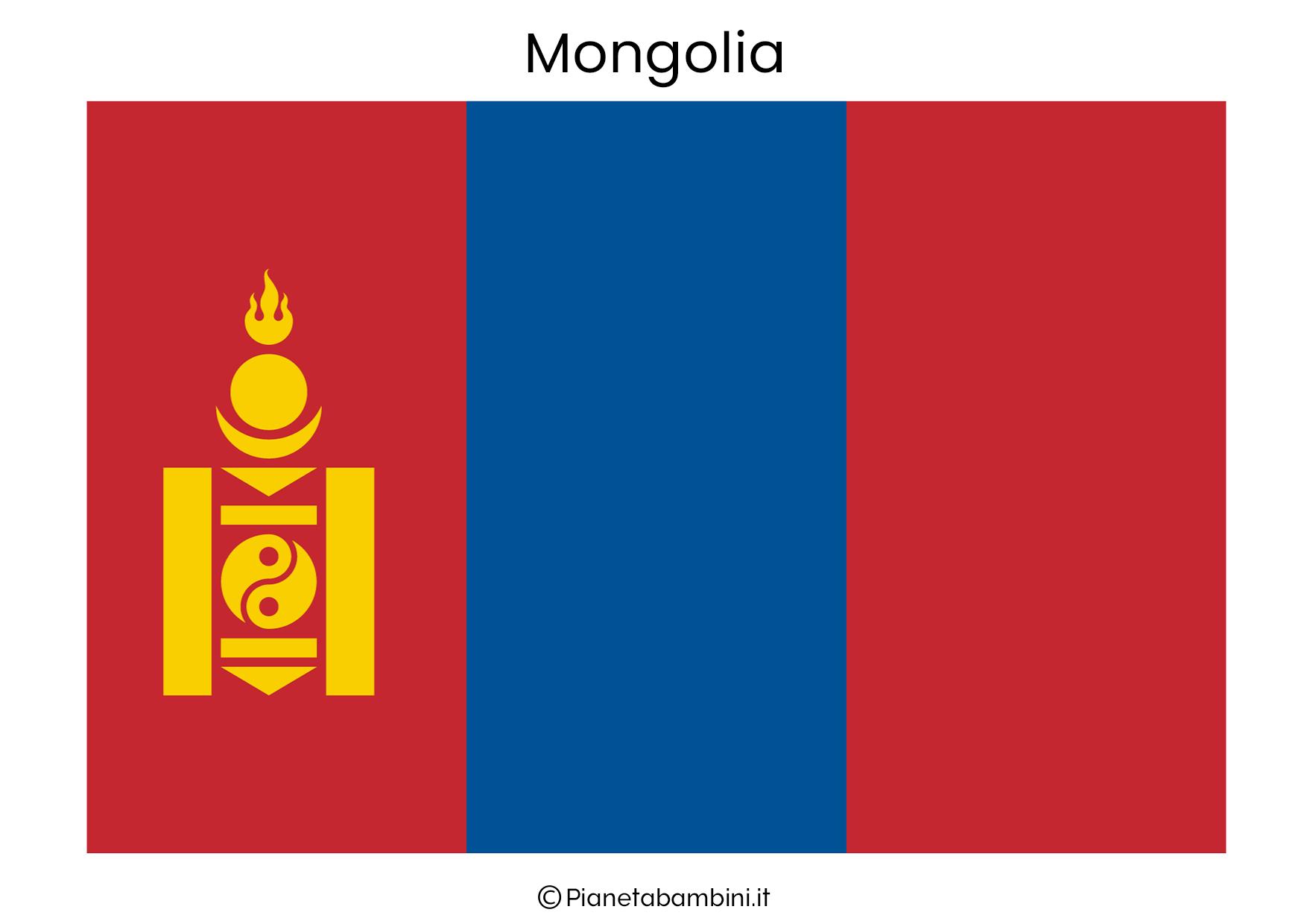 Bandiera della Mongolia da stampare