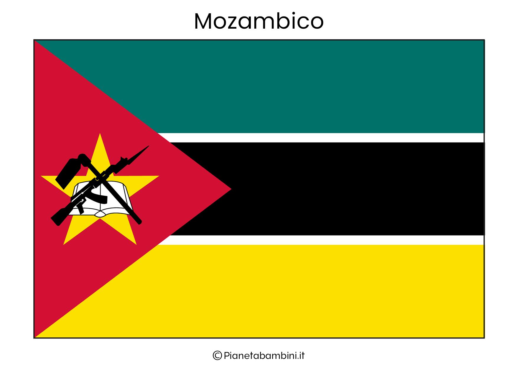 Bandiera del Mozambico da stampare
