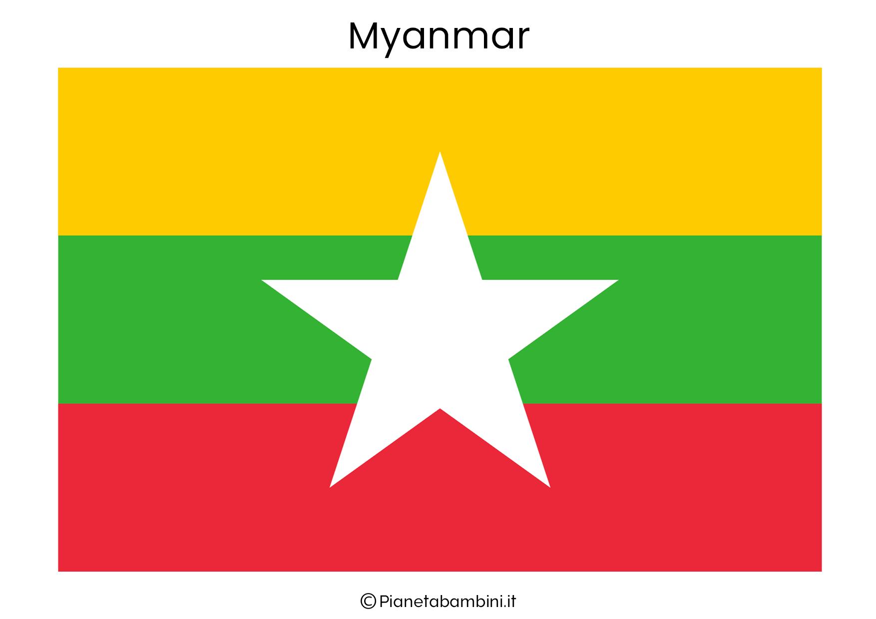 Bandiera del Myanmar da stampare