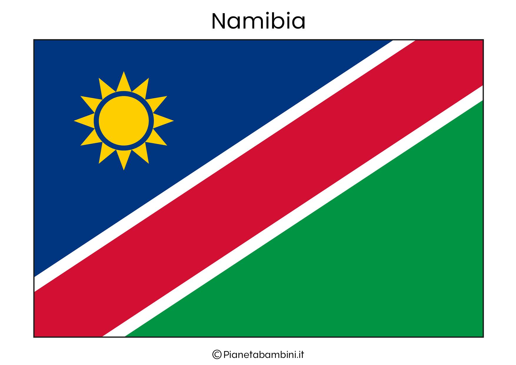 Bandiera della Namibia da stampare