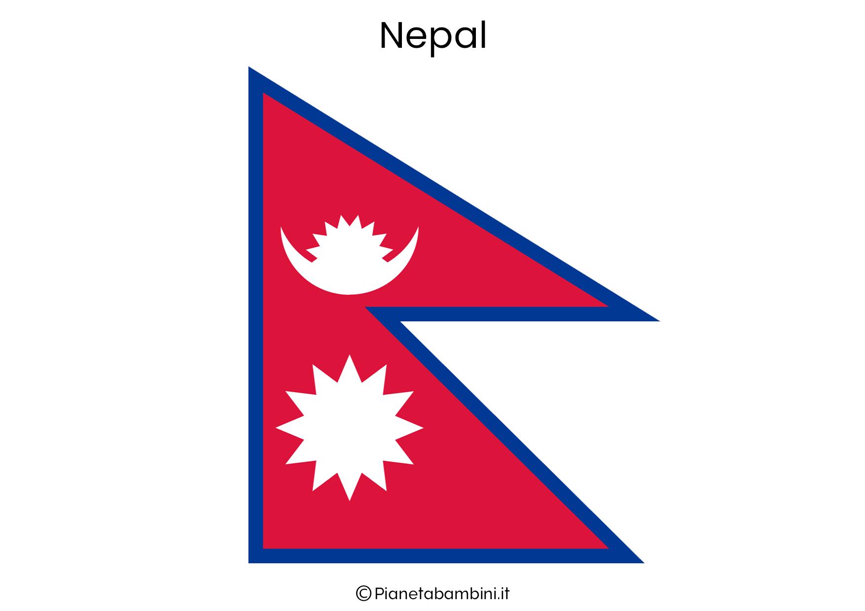 Bandiera del Nepal da stampare