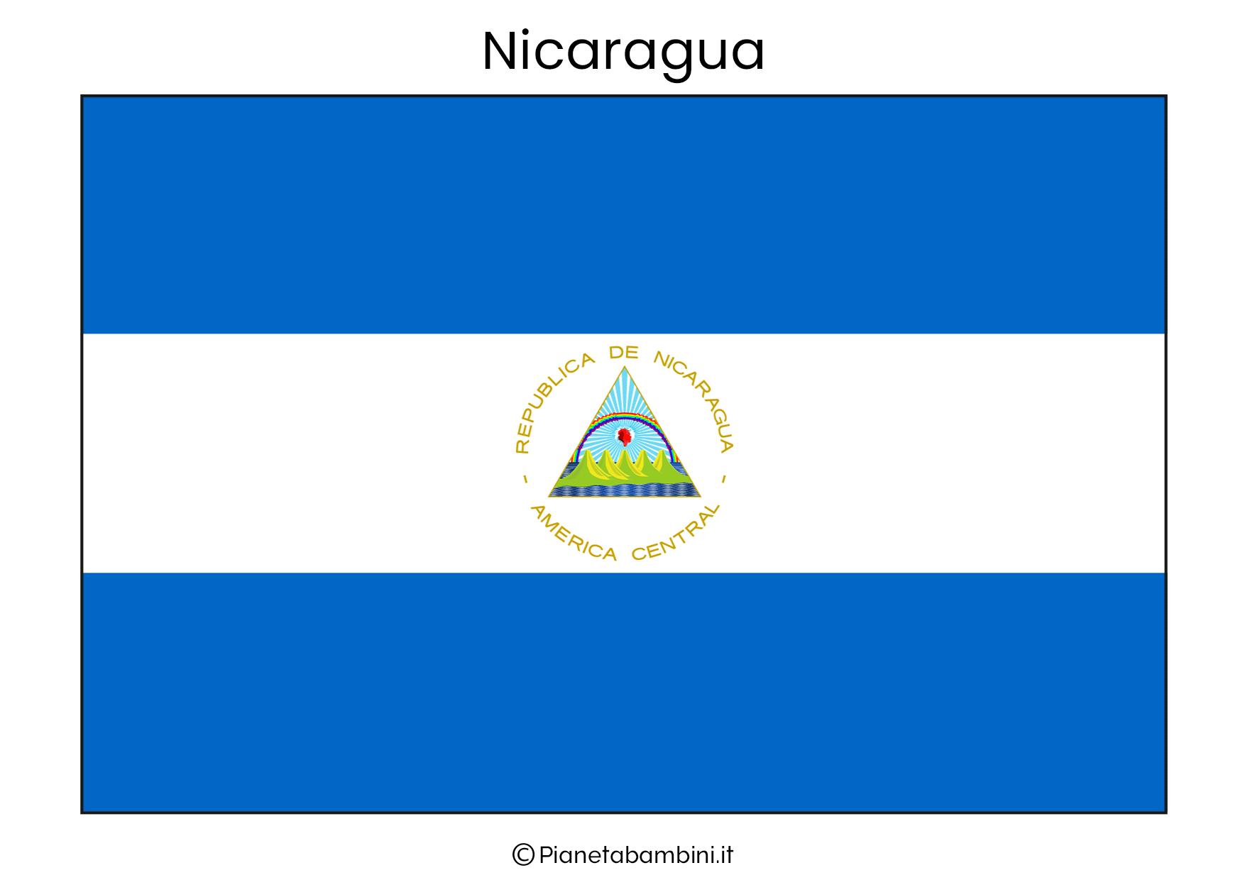 Bandiera del Nicaragua da stampare