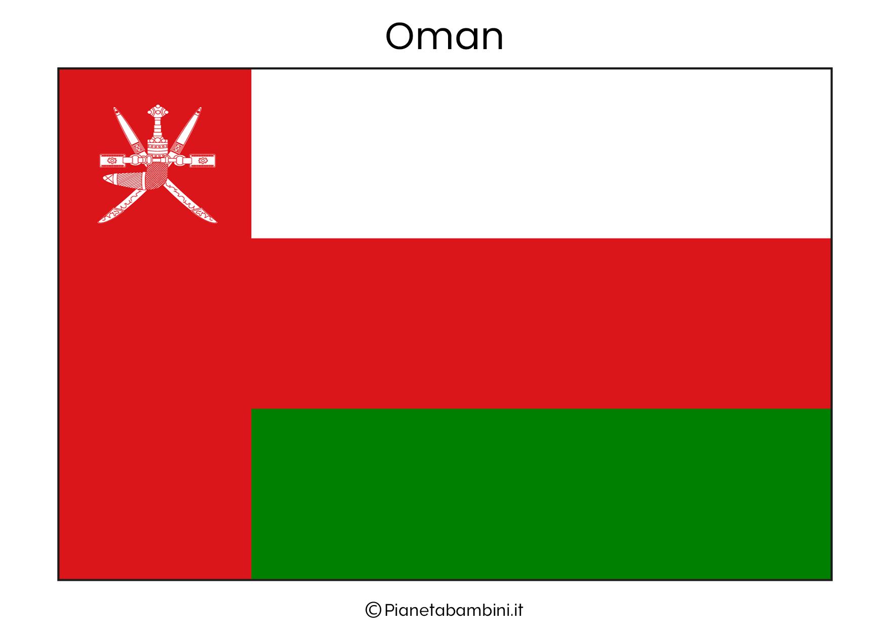 Bandiera dell'Oman da stampare