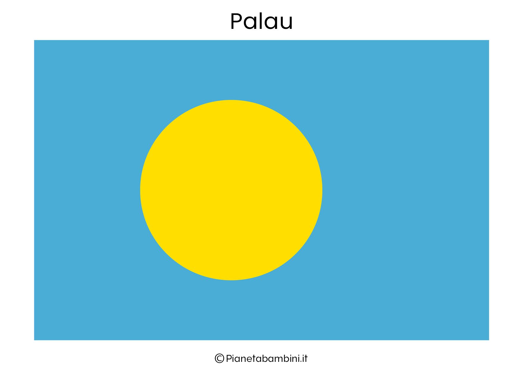 Bandiera di Palau da stampare