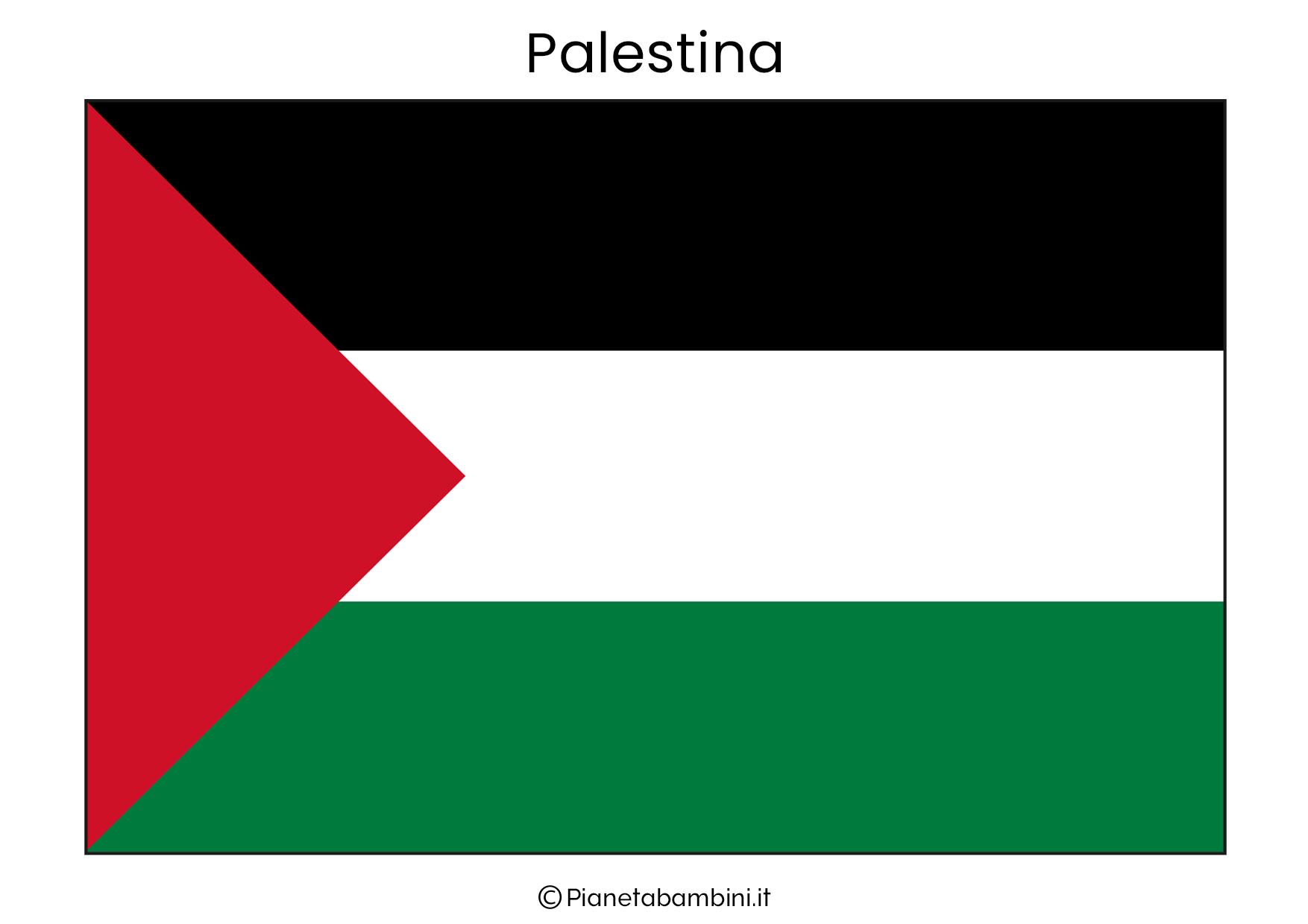 Bandiera della Palestina da stampare