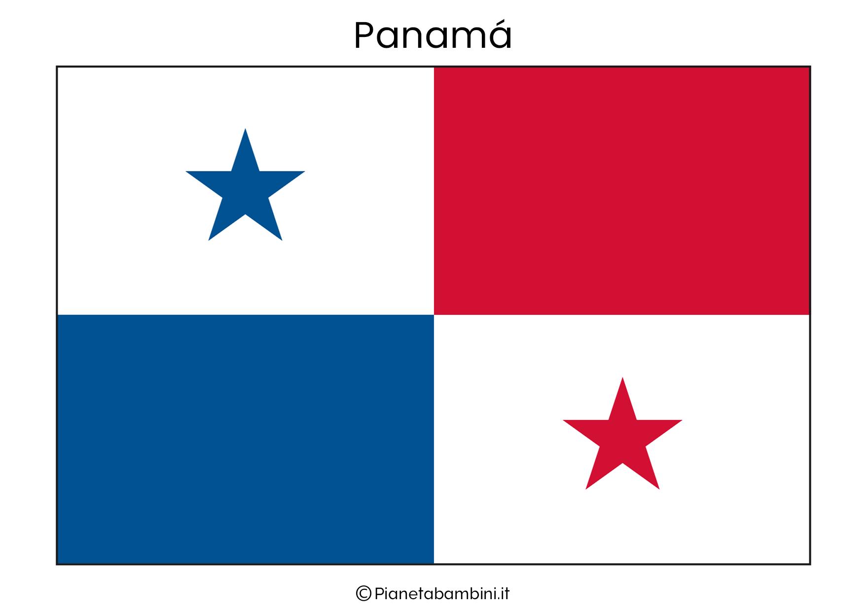 Bandiera di Panama da stampare