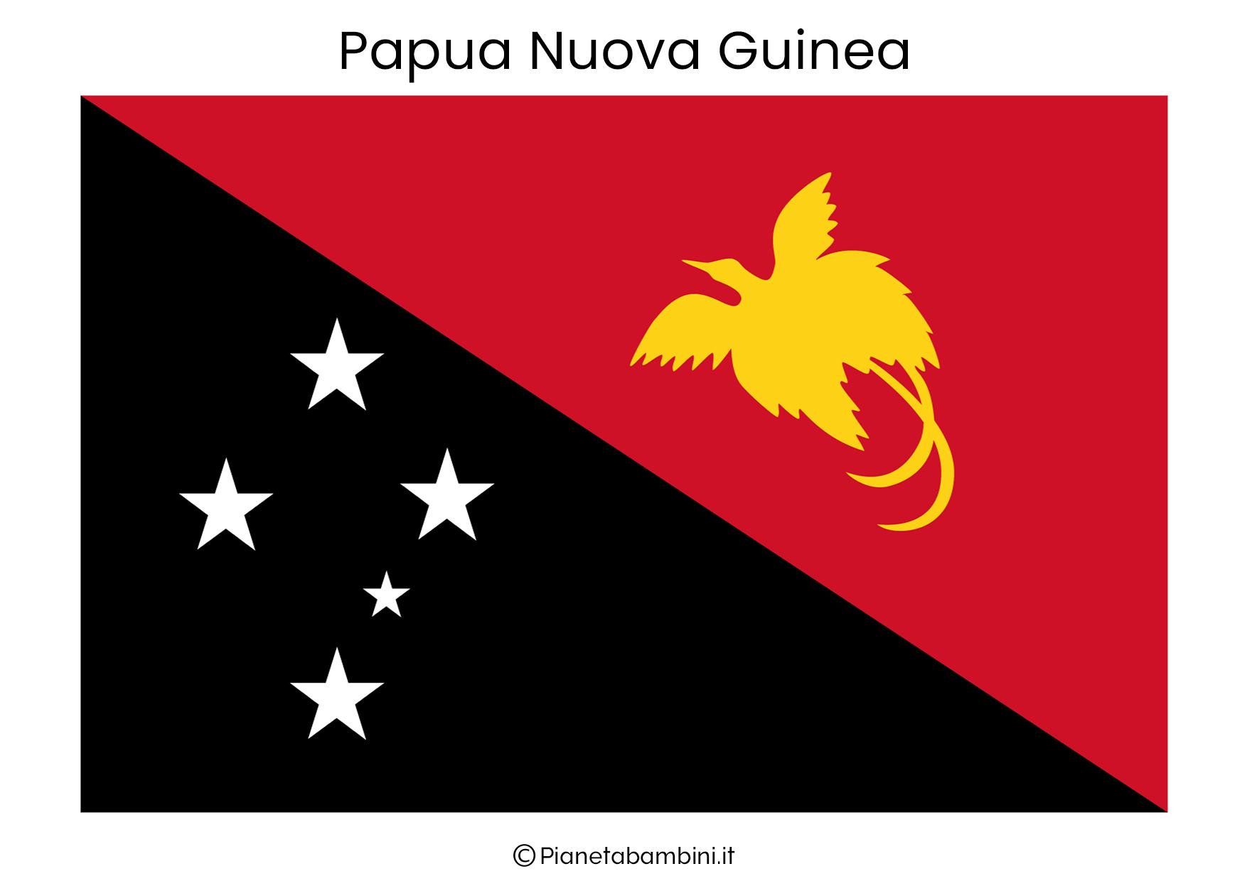 Bandiera di Papua Nuova Guinea da stampare