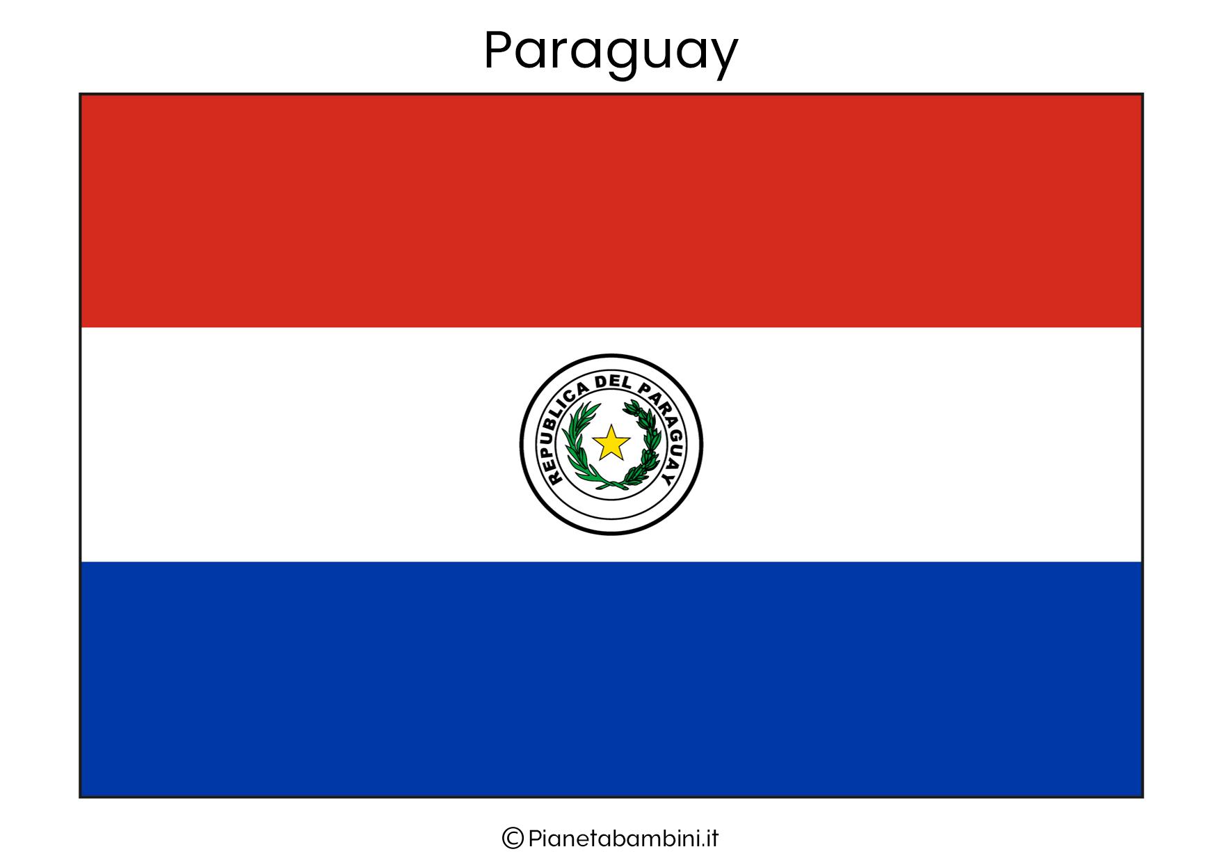 Bandiera del Paraguay da stampare