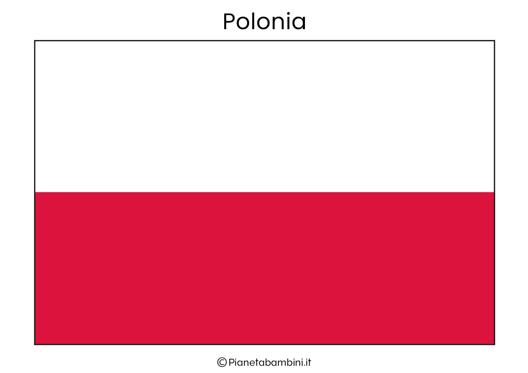 Bandiera della Polonia da stampare