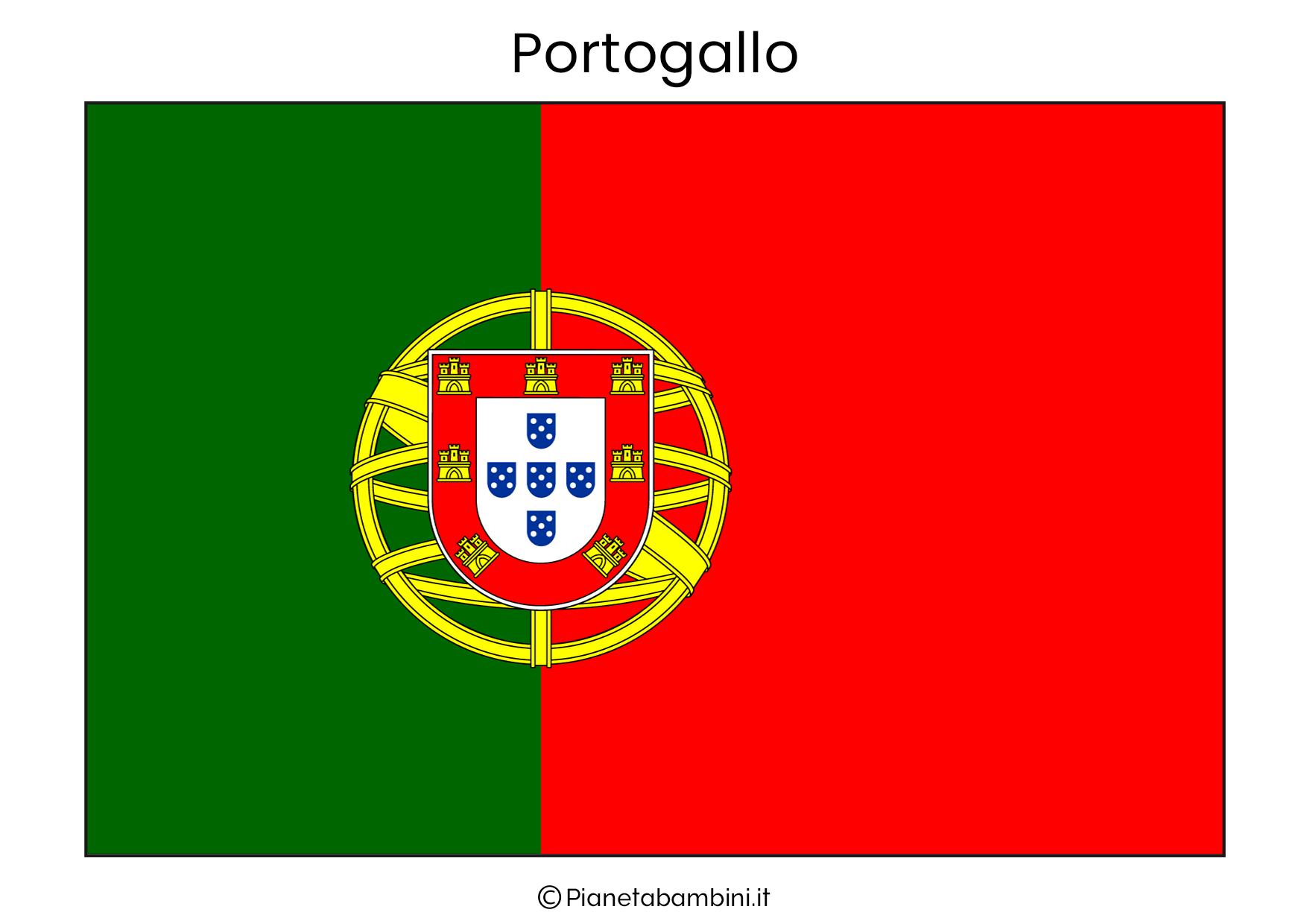 Bandiera del Portogallo da stampare